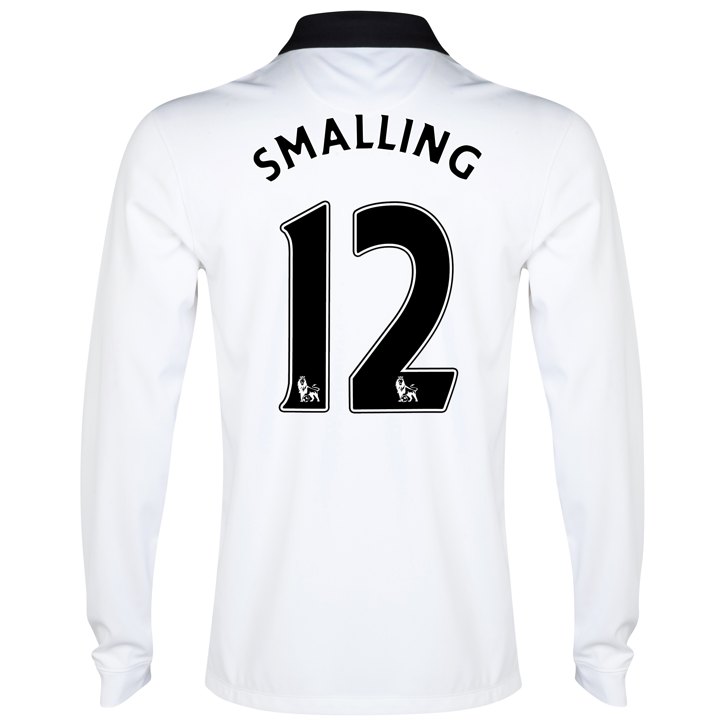 Manchester United Away Shirt 2014/15 - Long Sleeve - Kids White with Smalling 12 printing