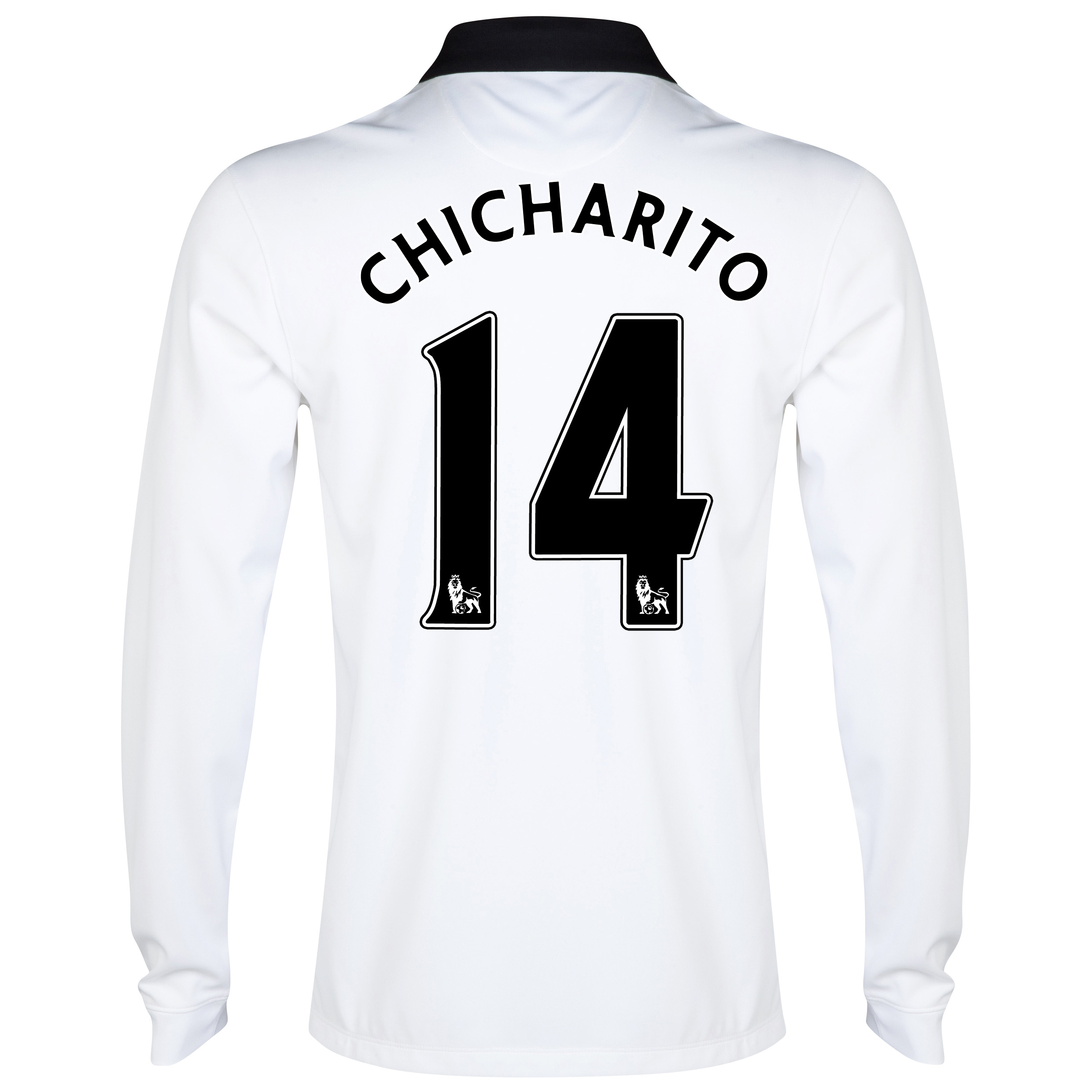 Manchester United Away Shirt 2014/15 - Long Sleeve - Kids White with Chicharito 14 printing