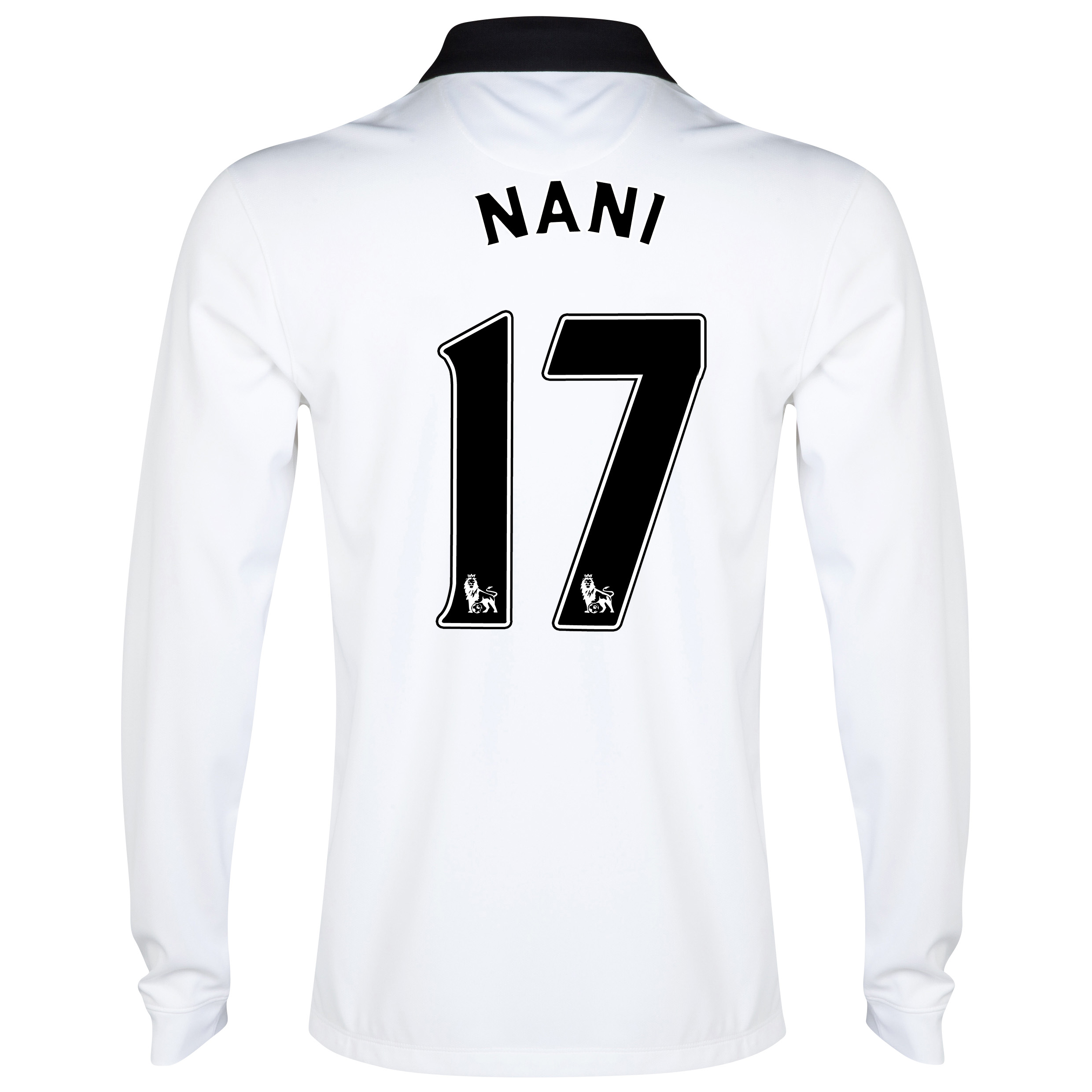 Manchester United Away Shirt 2014/15 - Long Sleeve - Kids White with Nani 17 printing