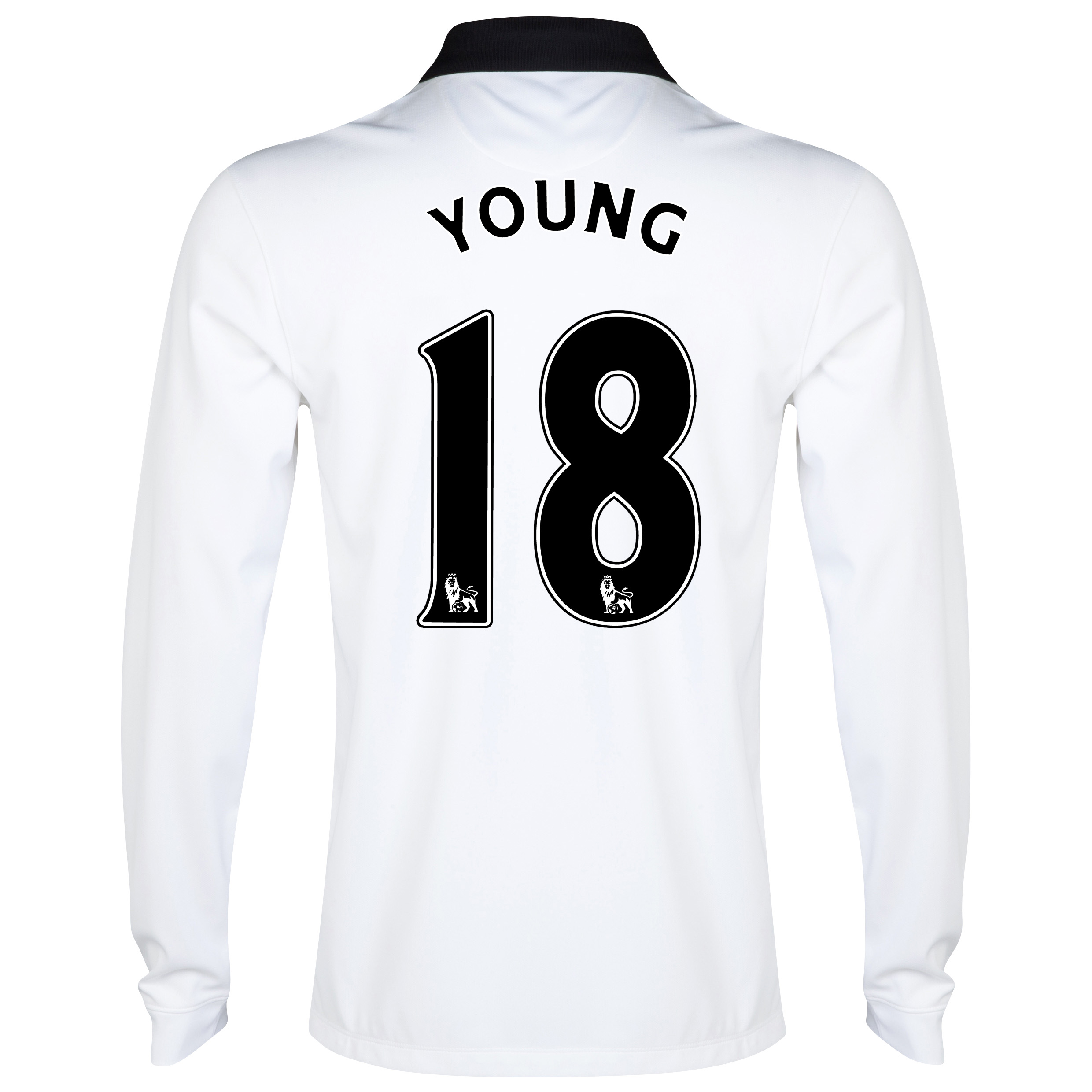 Manchester United Away Shirt 2014/15 - Long Sleeve - Kids White with Young 18 printing