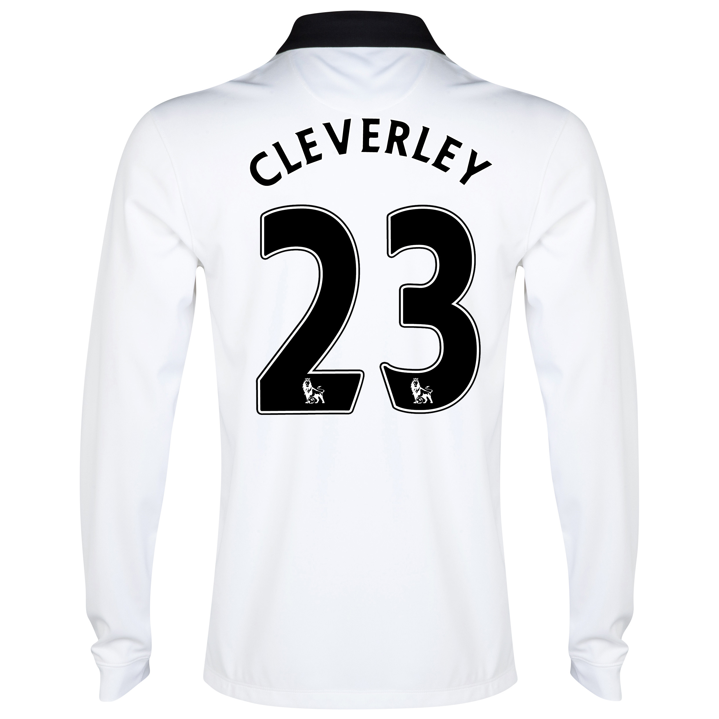 Manchester United Away Shirt 2014/15 - Long Sleeve - Kids White with Cleverley 23 printing