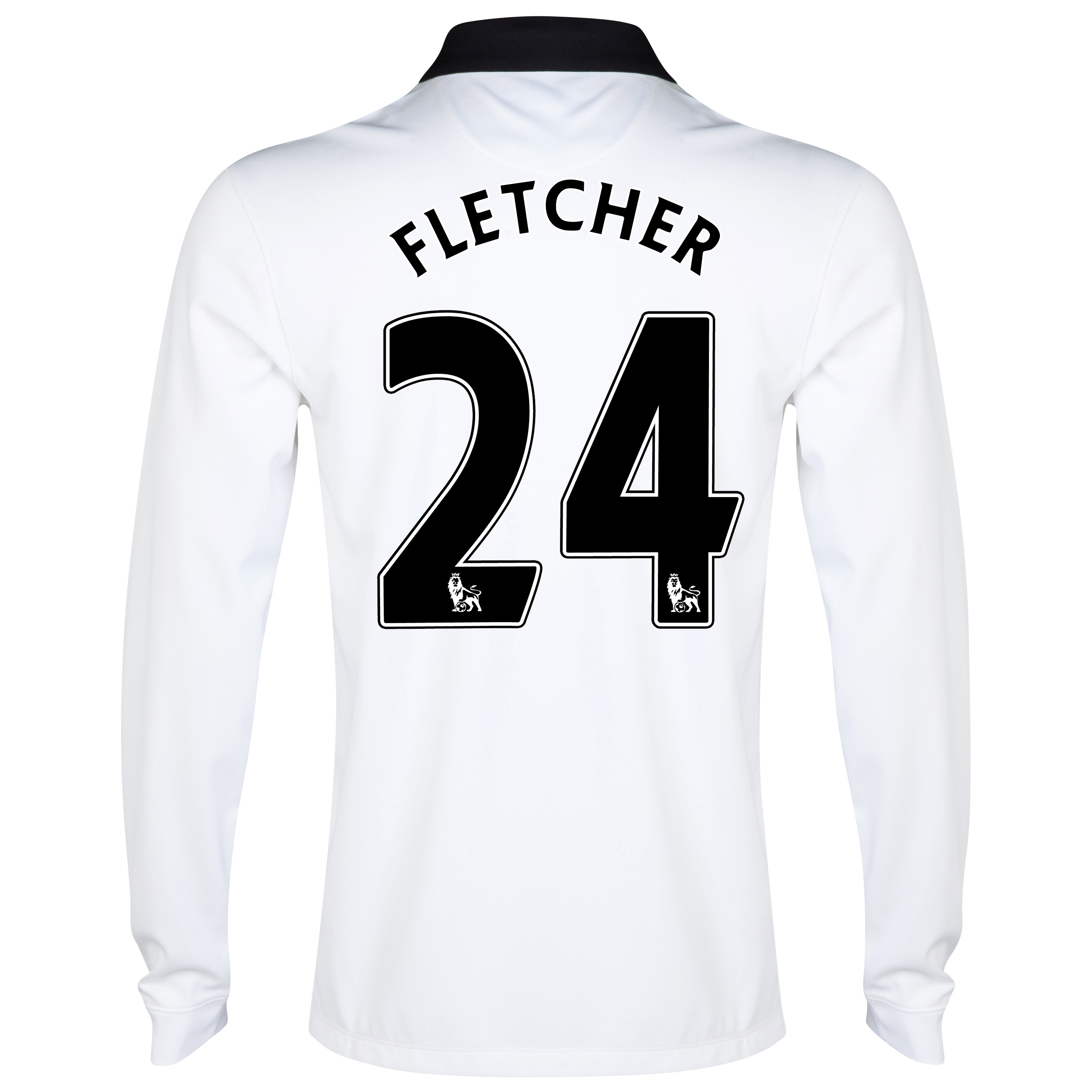 Manchester United Away Shirt 2014/15 - Long Sleeve - Kids White with Fletcher 24 printing