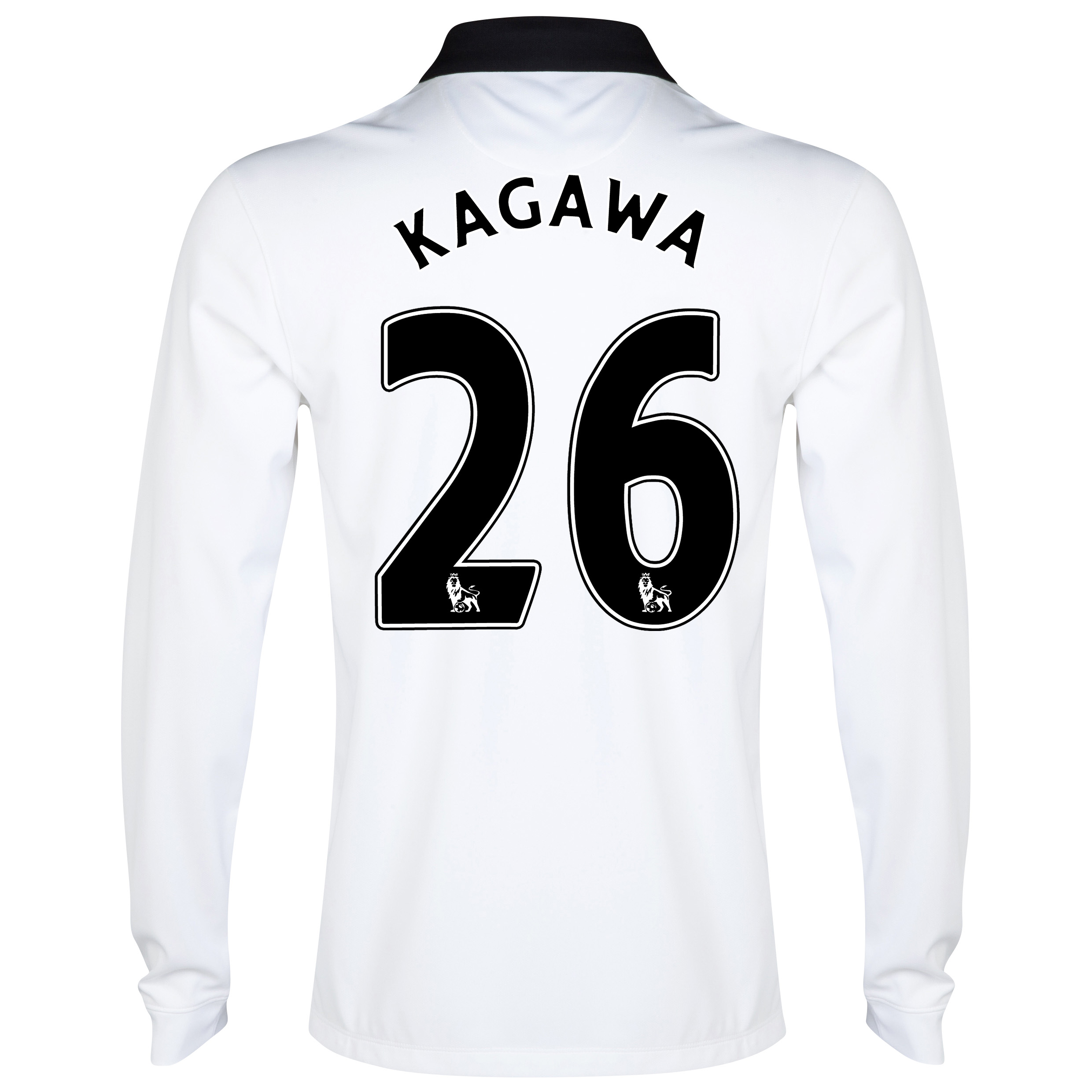 Manchester United Away Shirt 2014/15 - Long Sleeve - Kids White with Kagawa 26 printing