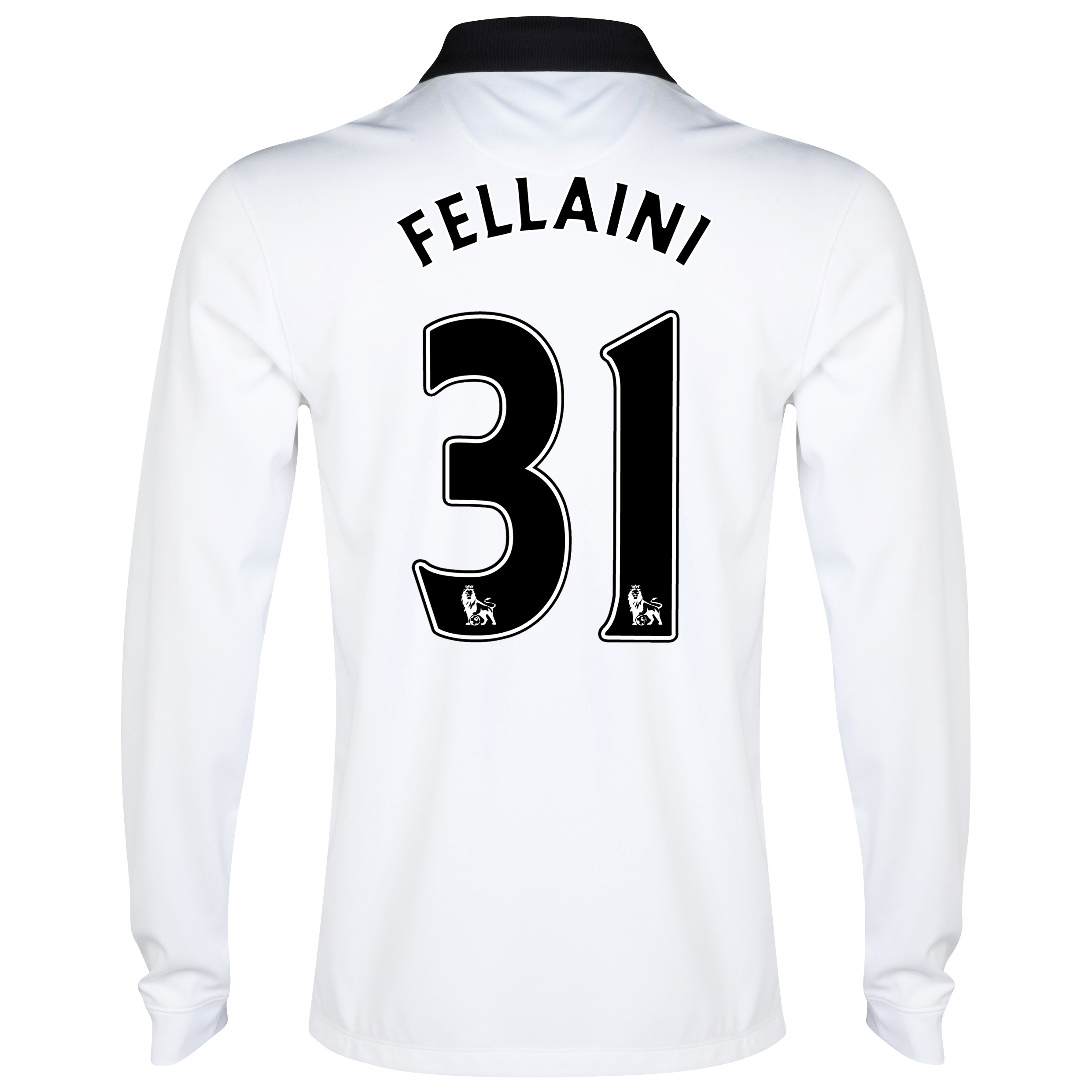 Manchester United Away Shirt 2014/15 - Long Sleeve - Kids White with Fellaini 31 printing