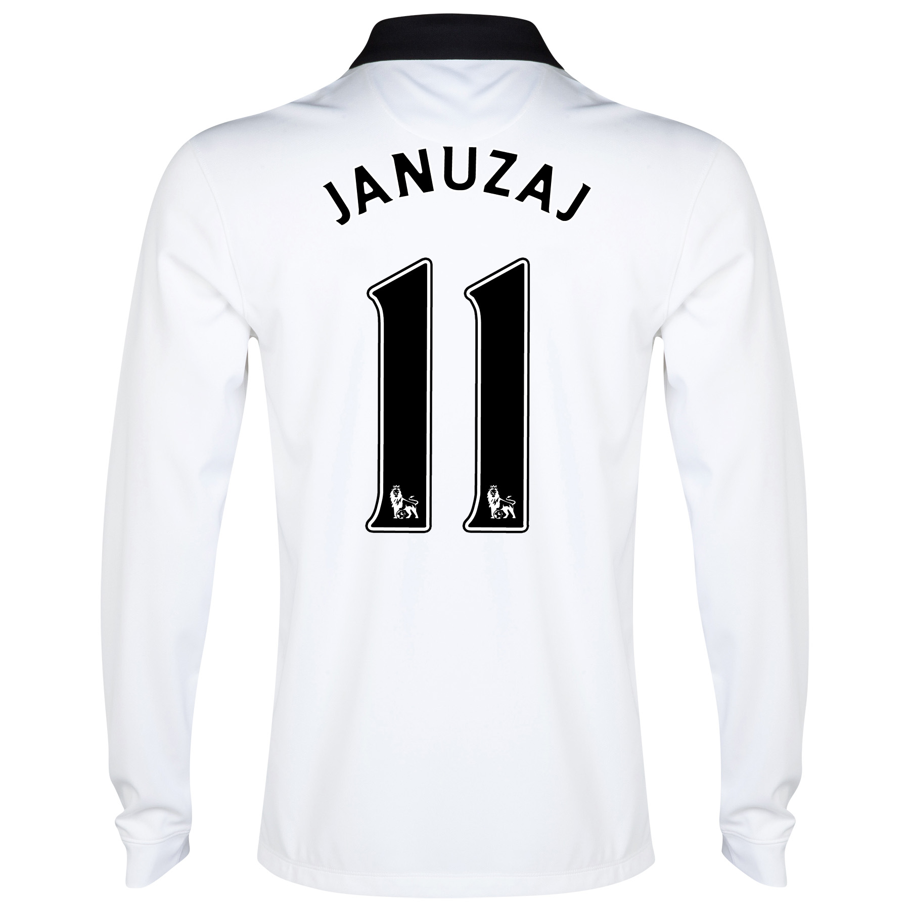 Manchester United Away Shirt 2014/15 - Long Sleeve - Kids White with Januzaj 11 printing