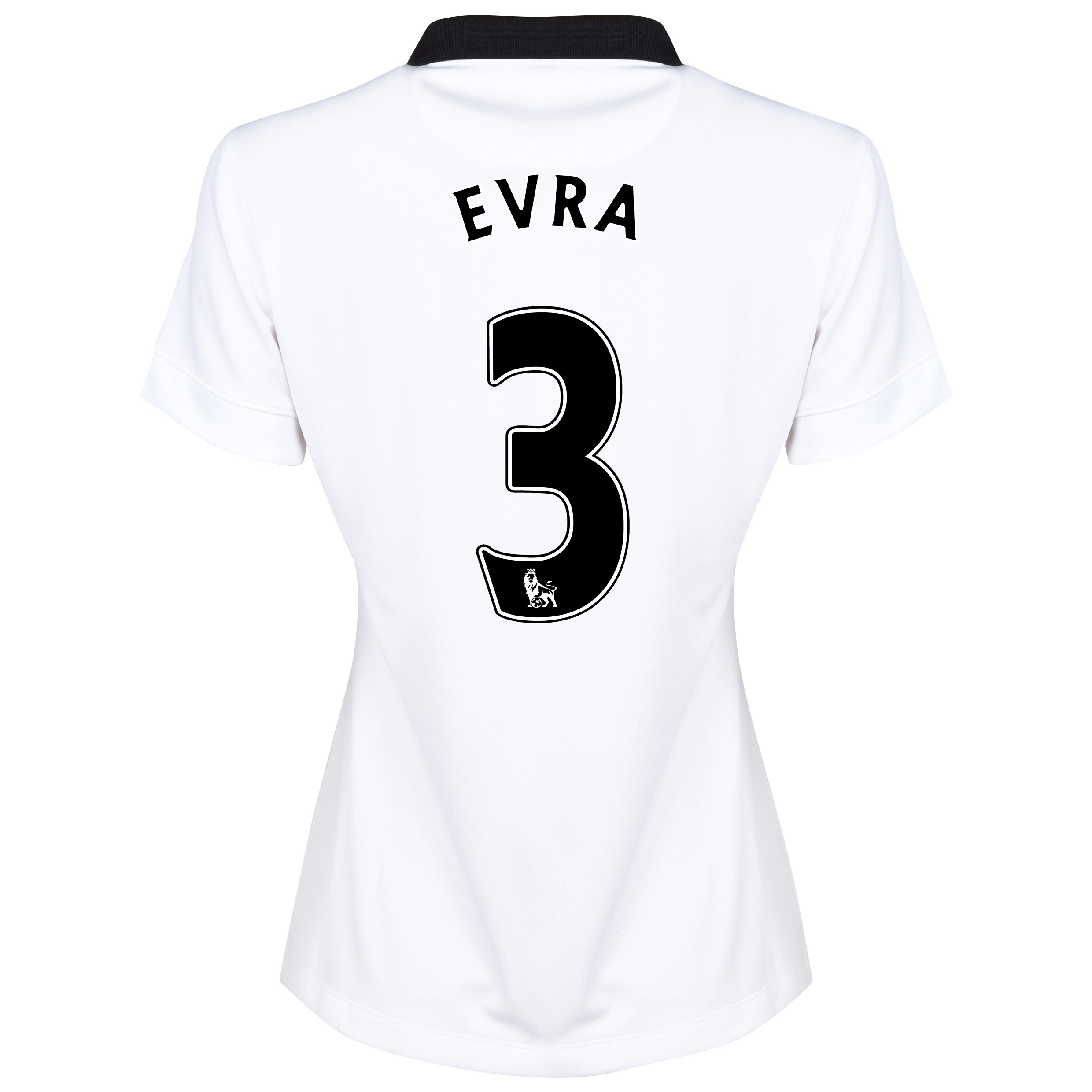 Manchester United Away Shirt 2014/15 - Womens White with Evra 3 printing