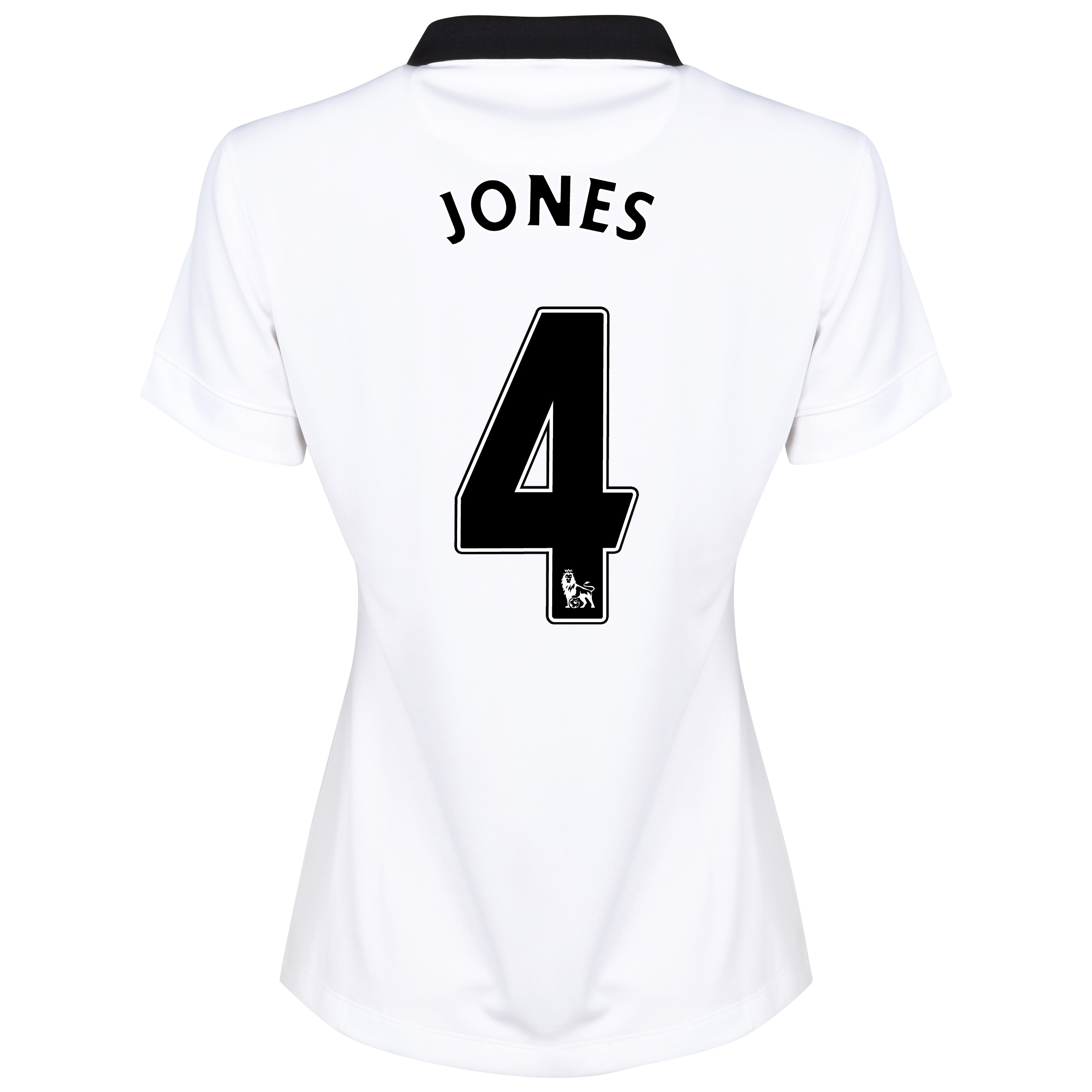 Manchester United Away Shirt 2014/15 - Womens White with Jones 4 printing