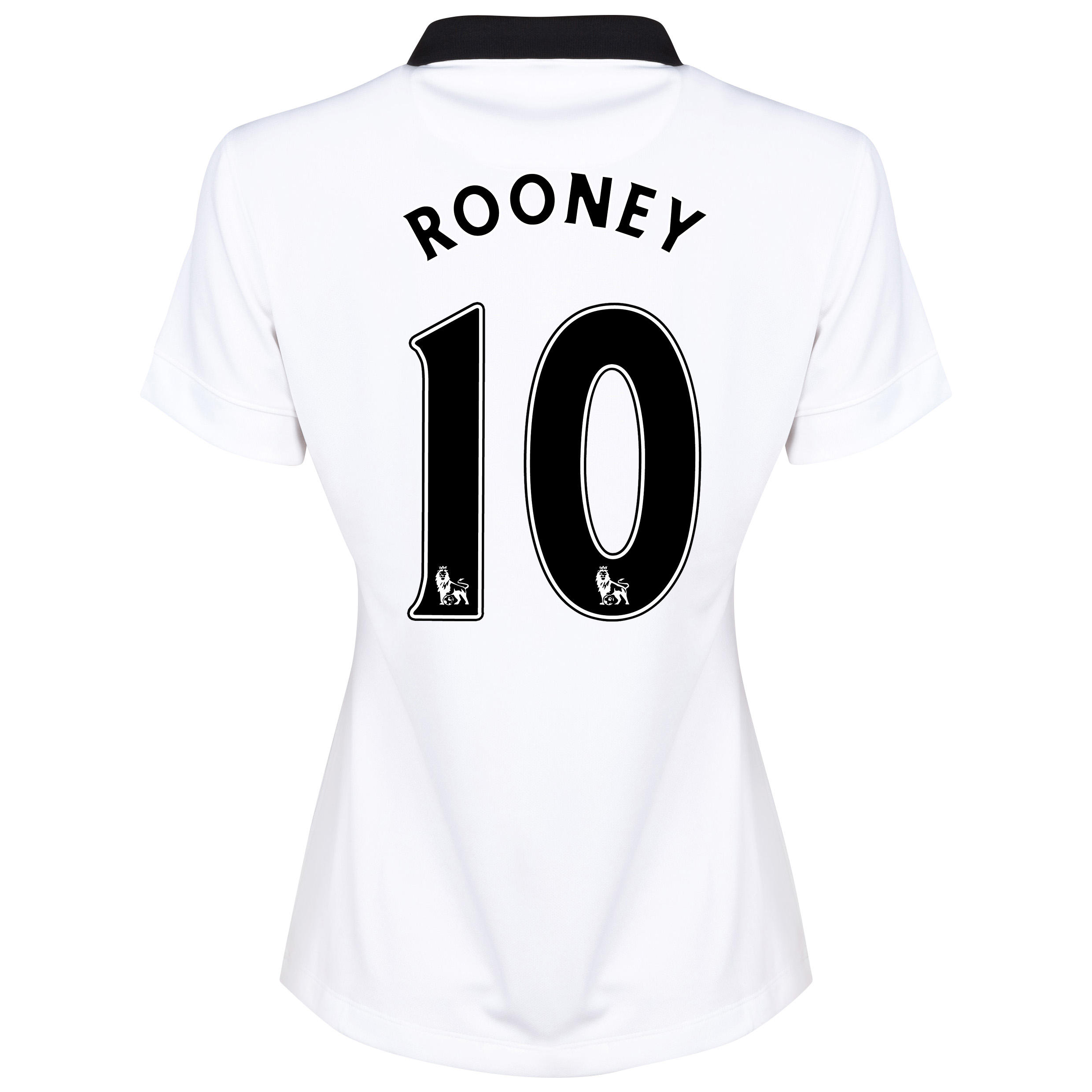 Manchester United Away Shirt 2014/15 - Womens White with Rooney 10 printing