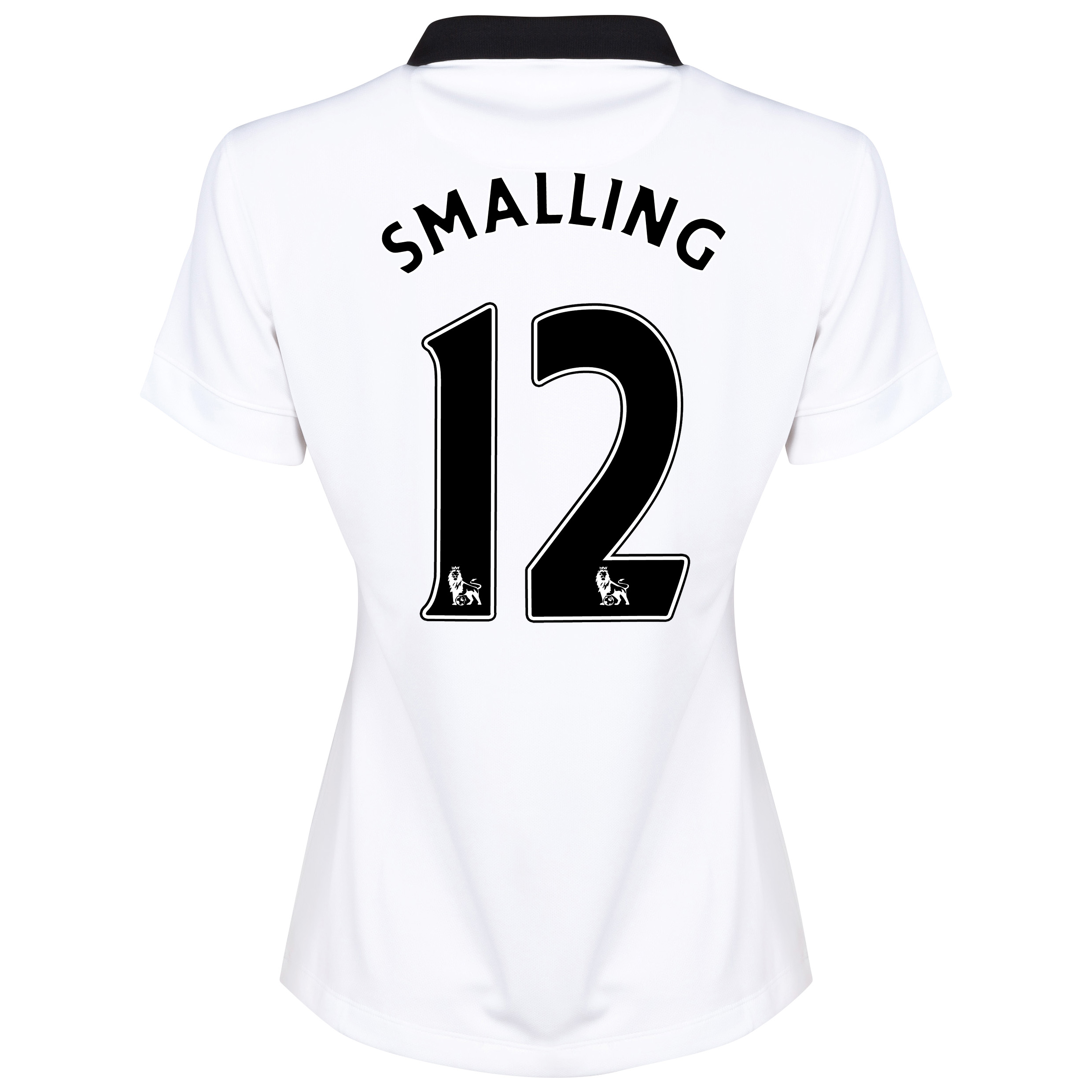 Manchester United Away Shirt 2014/15 - Womens White with Smalling 12 printing