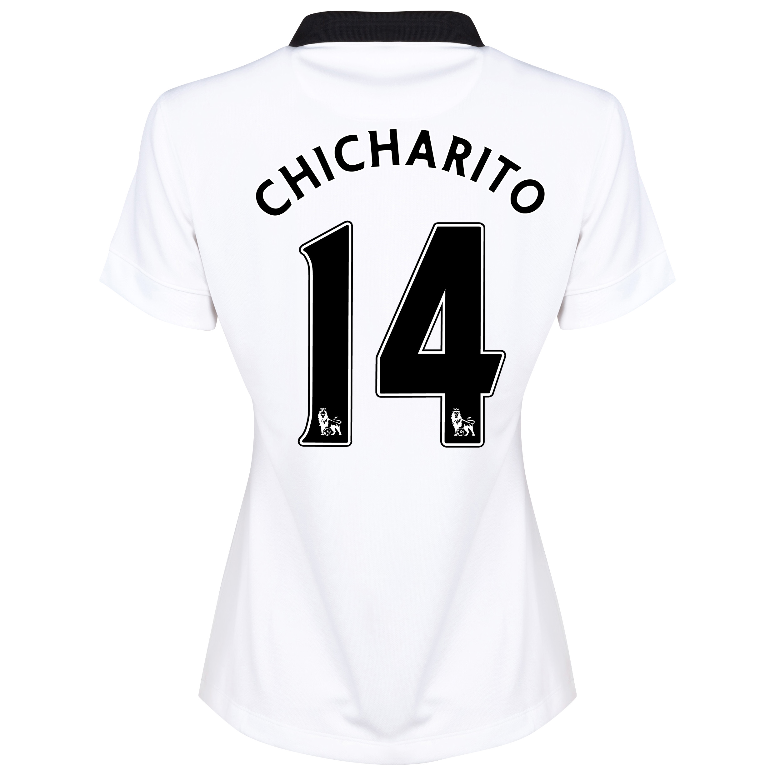 Manchester United Away Shirt 2014/15 - Womens White with Chicharito 14 printing