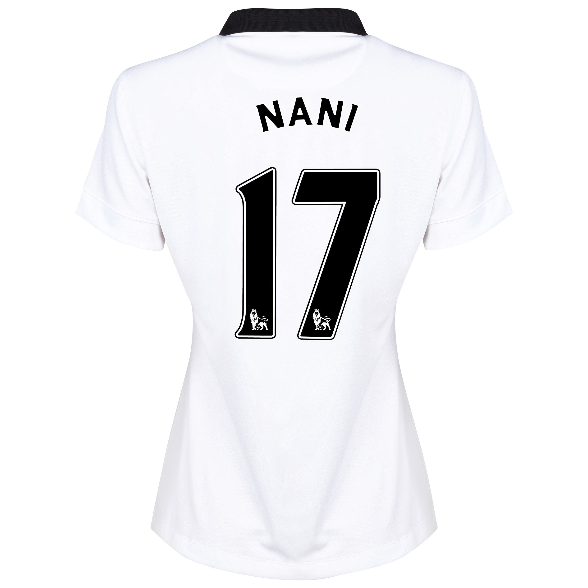 Manchester United Away Shirt 2014/15 - Womens White with Nani 17 printing