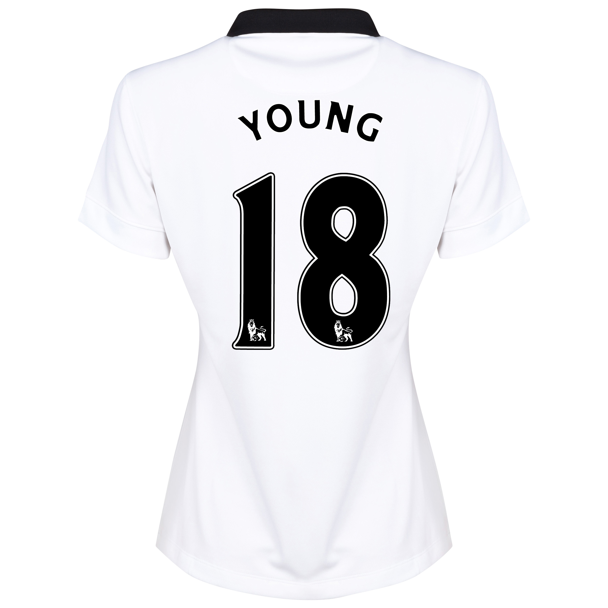 Manchester United Away Shirt 2014/15 - Womens White with Young 18 printing