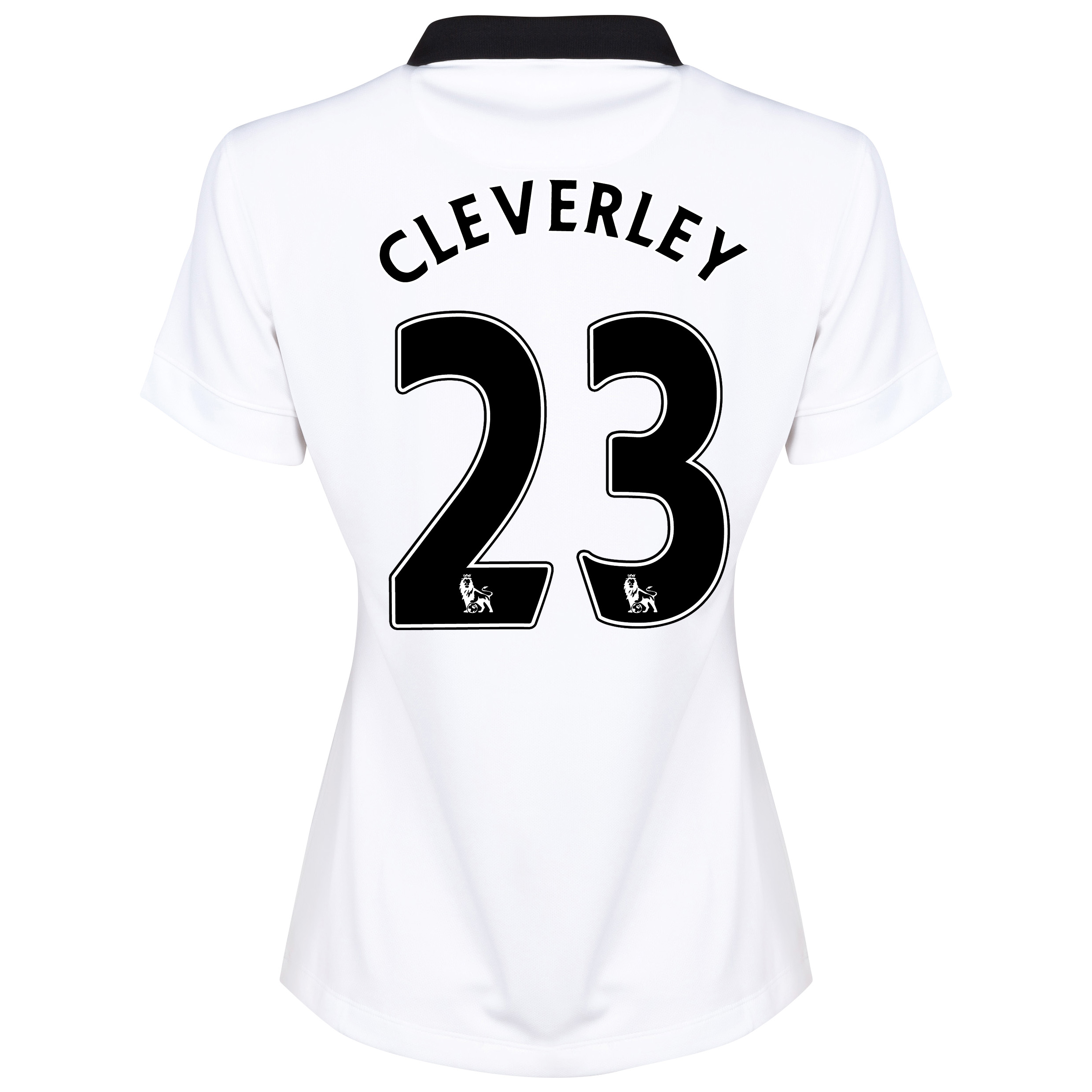 Manchester United Away Shirt 2014/15 - Womens White with Cleverley 23 printing