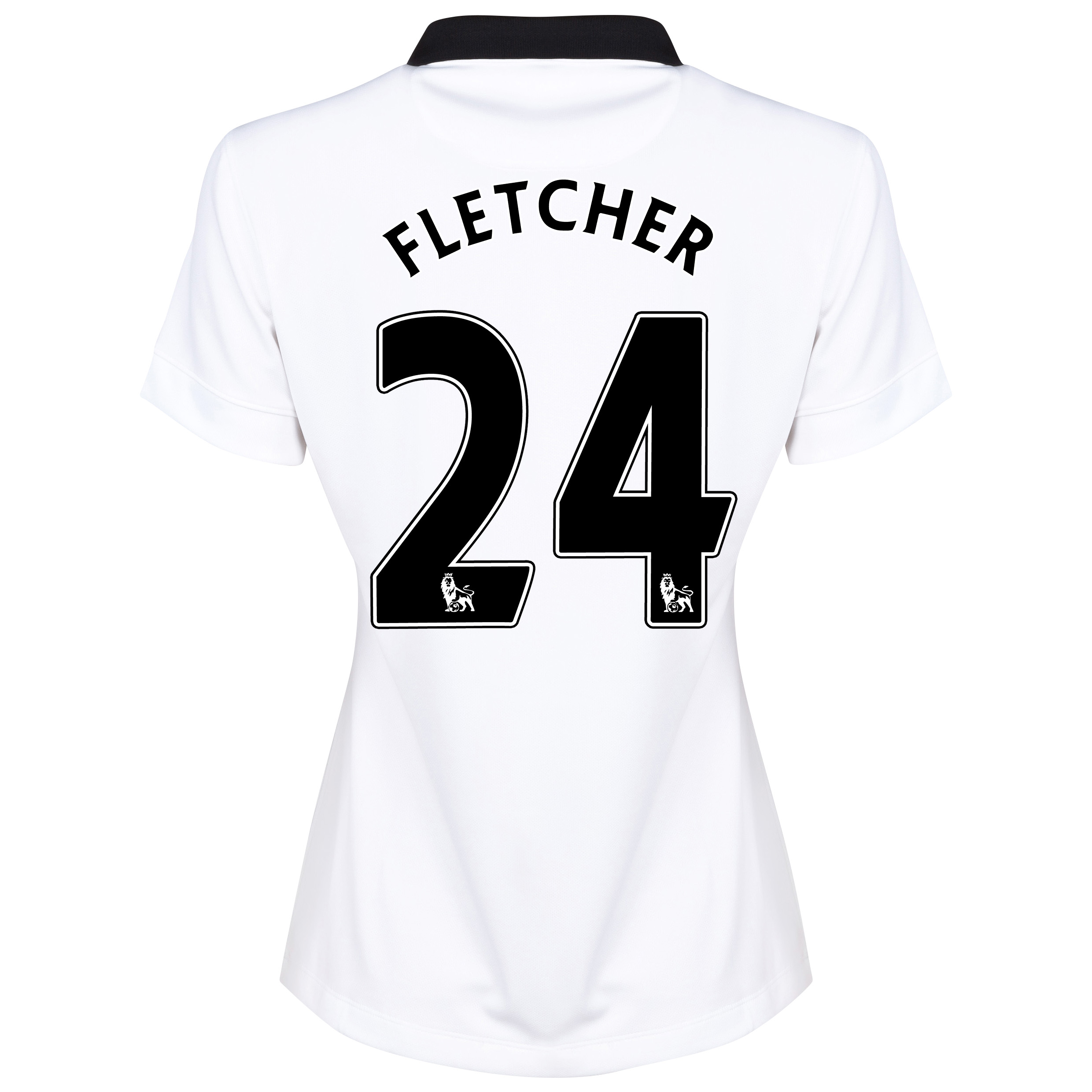 Manchester United Away Shirt 2014/15 - Womens White with Fletcher 24 printing