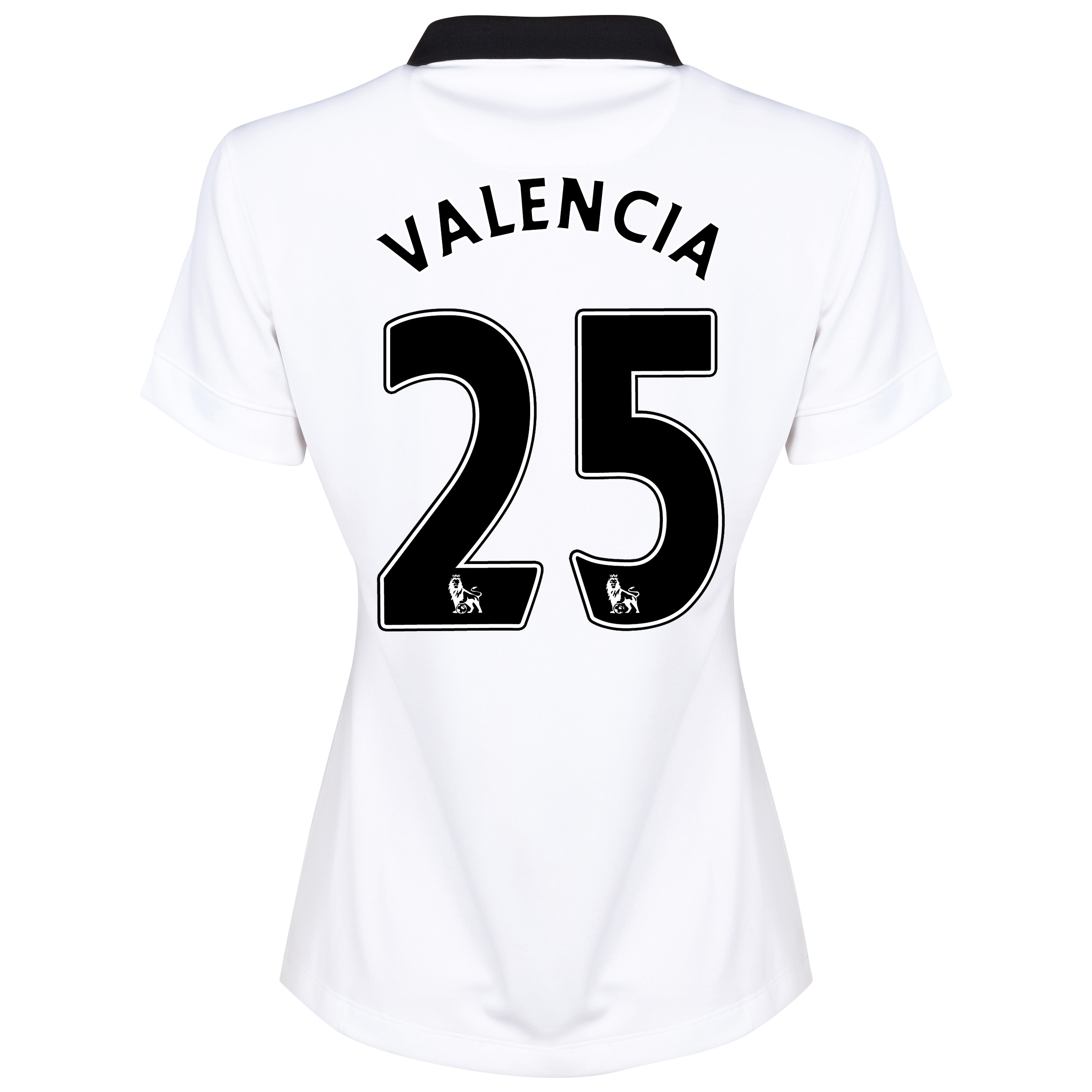 Manchester United Away Shirt 2014/15 - Womens White with Valencia 25 printing
