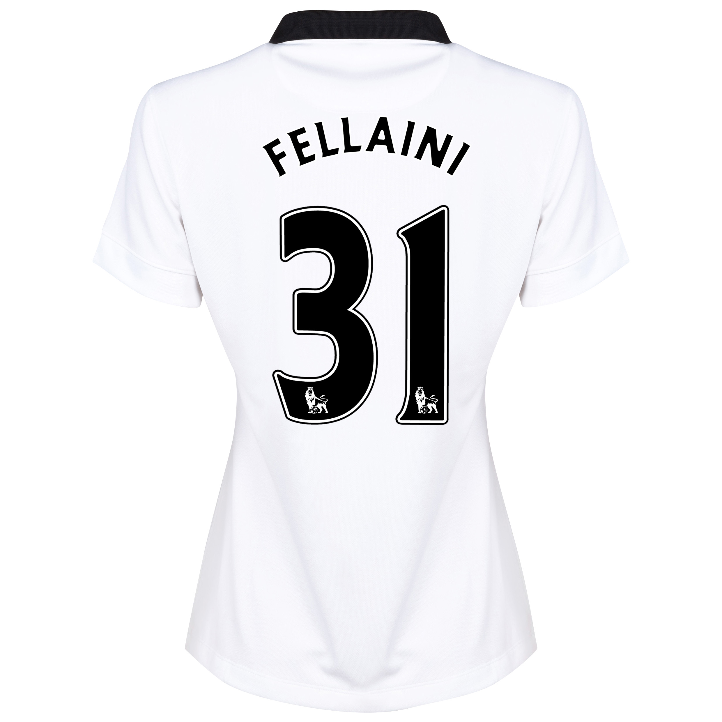 Manchester United Away Shirt 2014/15 - Womens White with Fellaini 31 printing