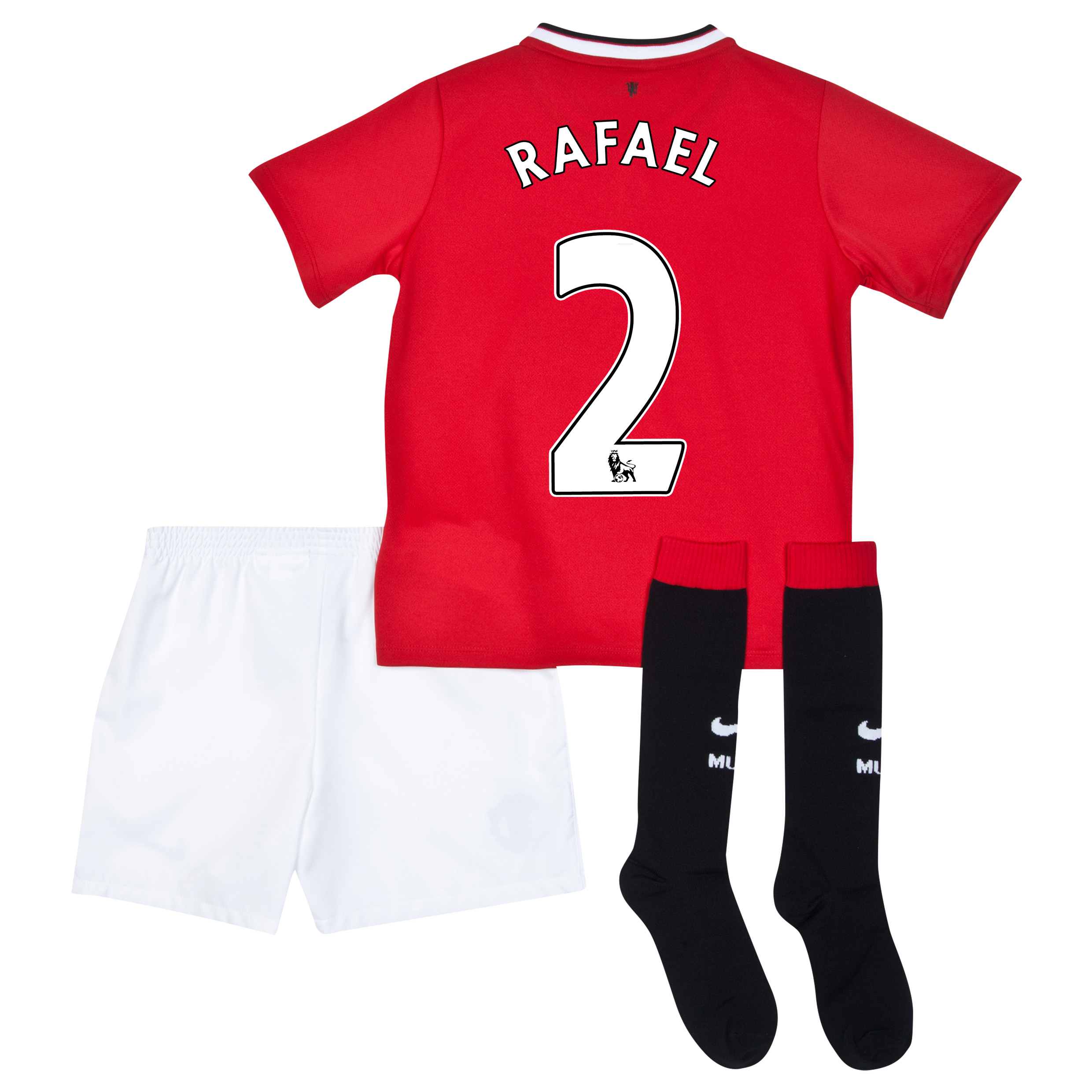 Manchester United Home Kit 2014/15 - Little Boys with Rafael 2 printing