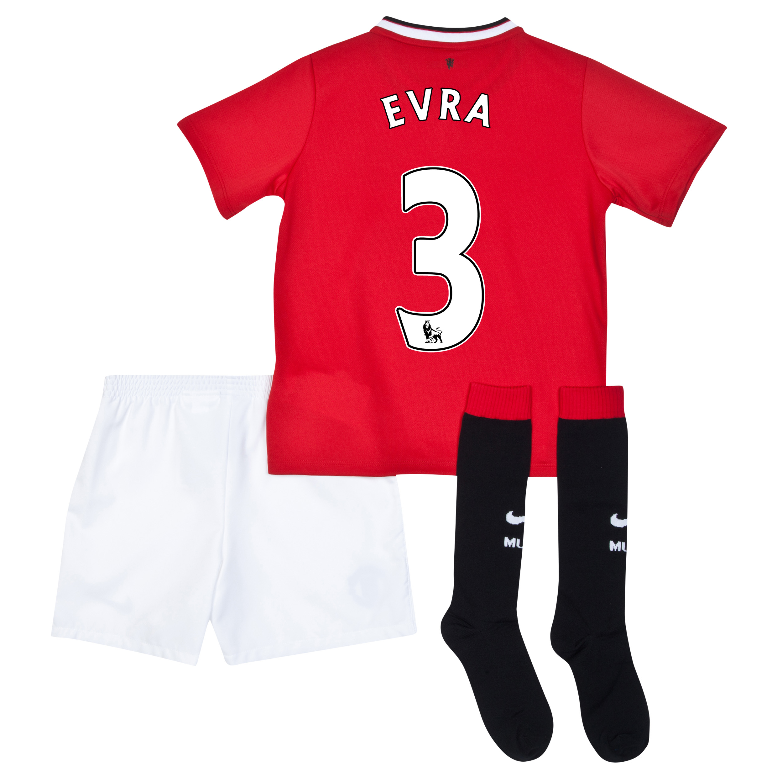 Manchester United Home Kit 2014/15 - Little Boys with Evra 3 printing