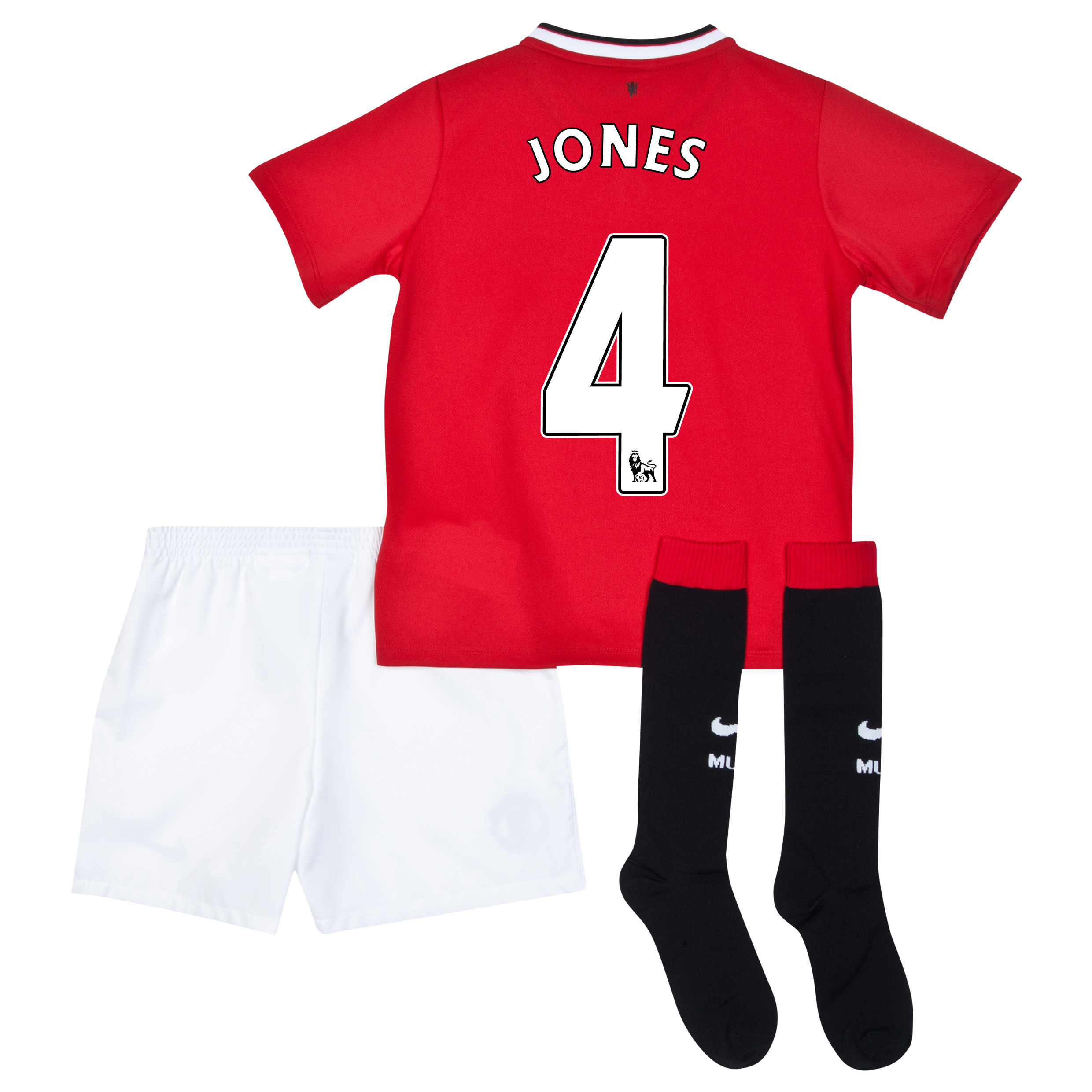 Manchester United Home Kit 2014/15 - Little Boys with Jones 4 printing