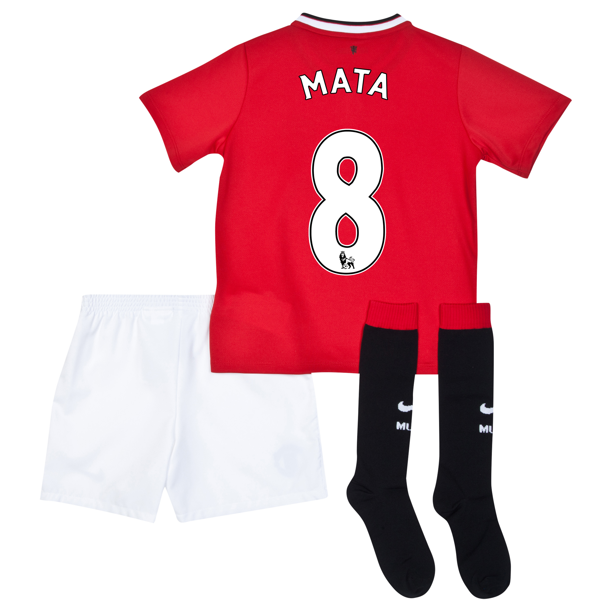Manchester United Home Kit 2014/15 - Little Boys with Mata 8 printing