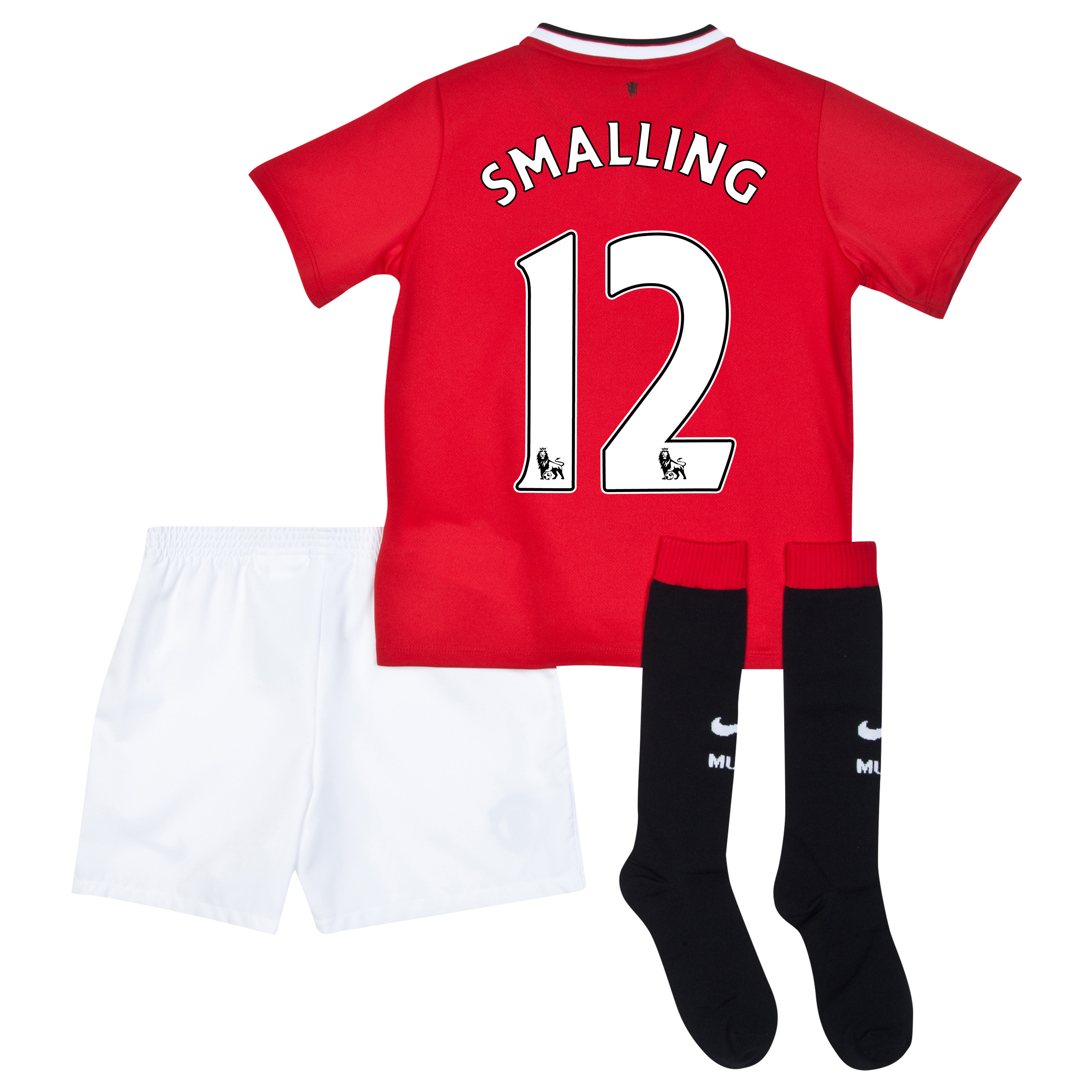 Manchester United Home Kit 2014/15 - Little Boys with Smalling 12 printing