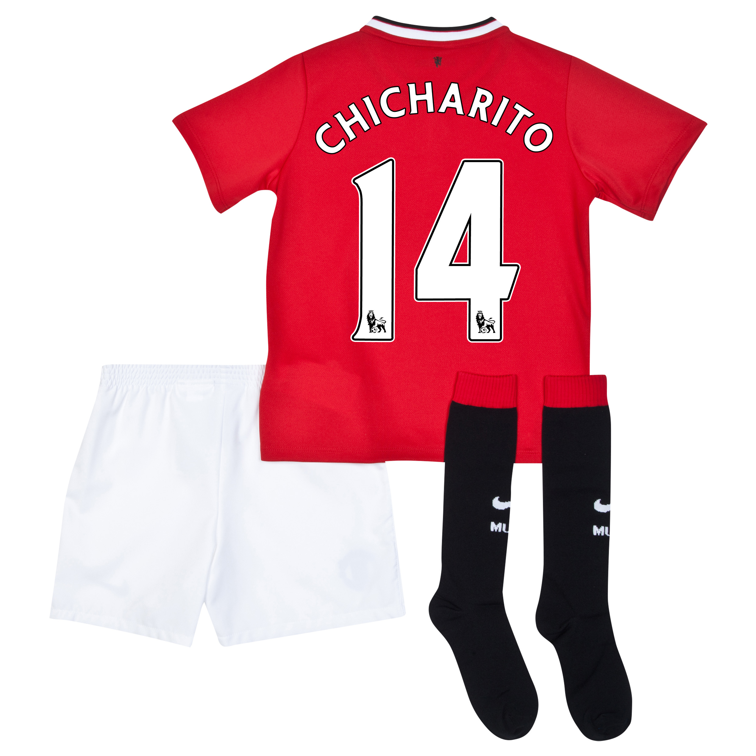 Manchester United Home Kit 2014/15 - Little Boys with Chicharito 14 printing