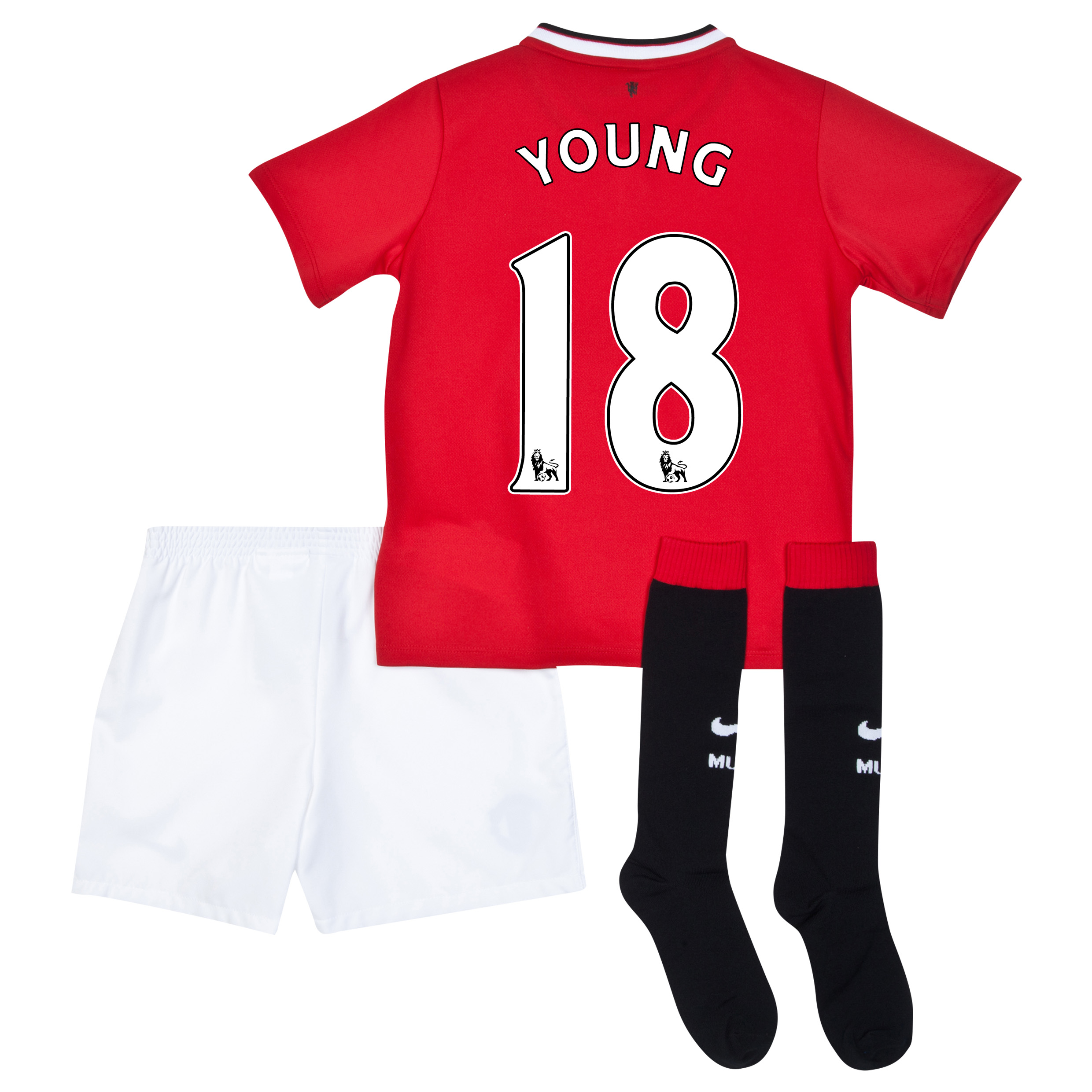 Manchester United Home Kit 2014/15 - Little Boys with Young 18 printing