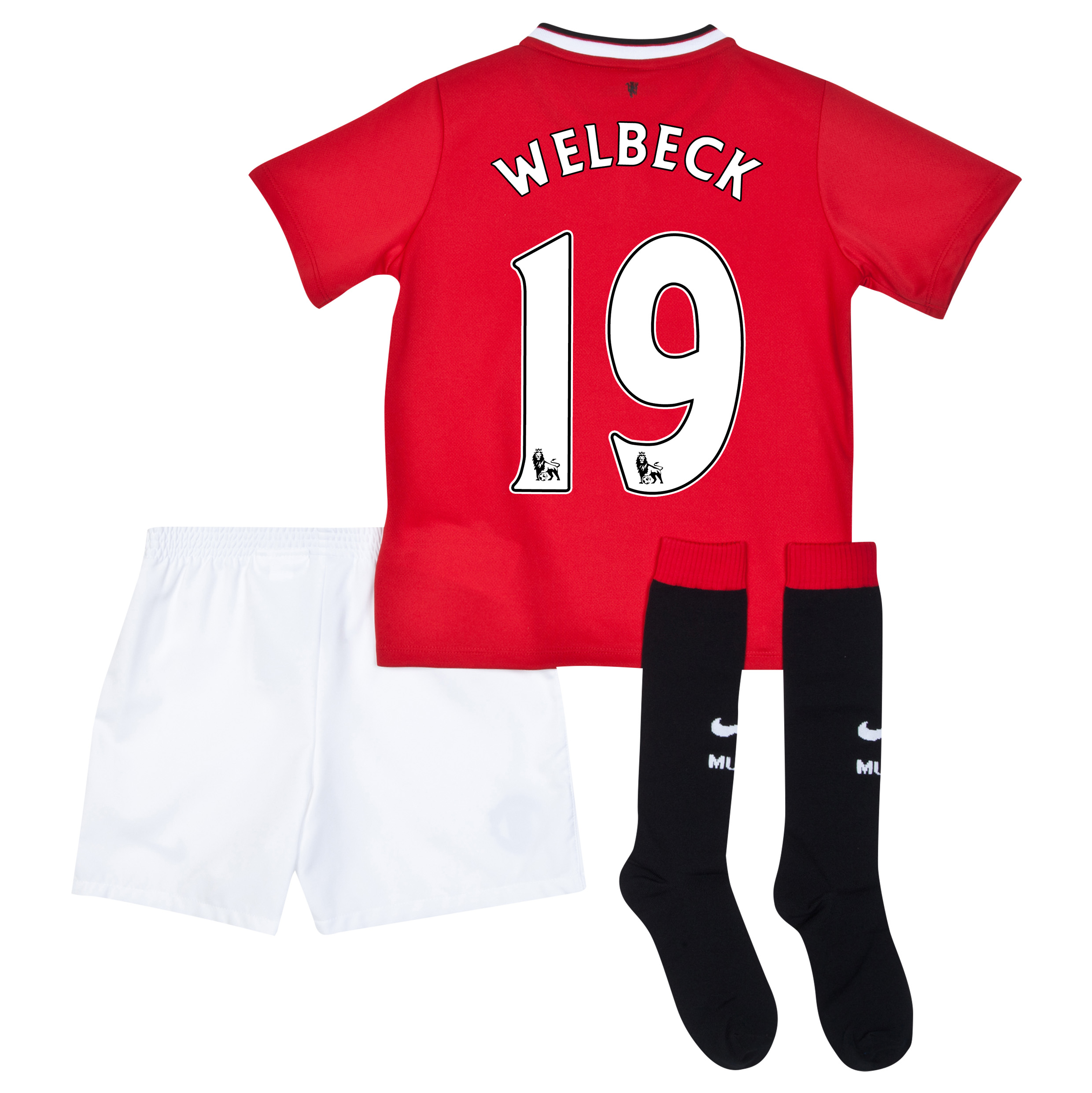Manchester United Home Kit 2014/15 - Little Boys with Welbeck 19 printing