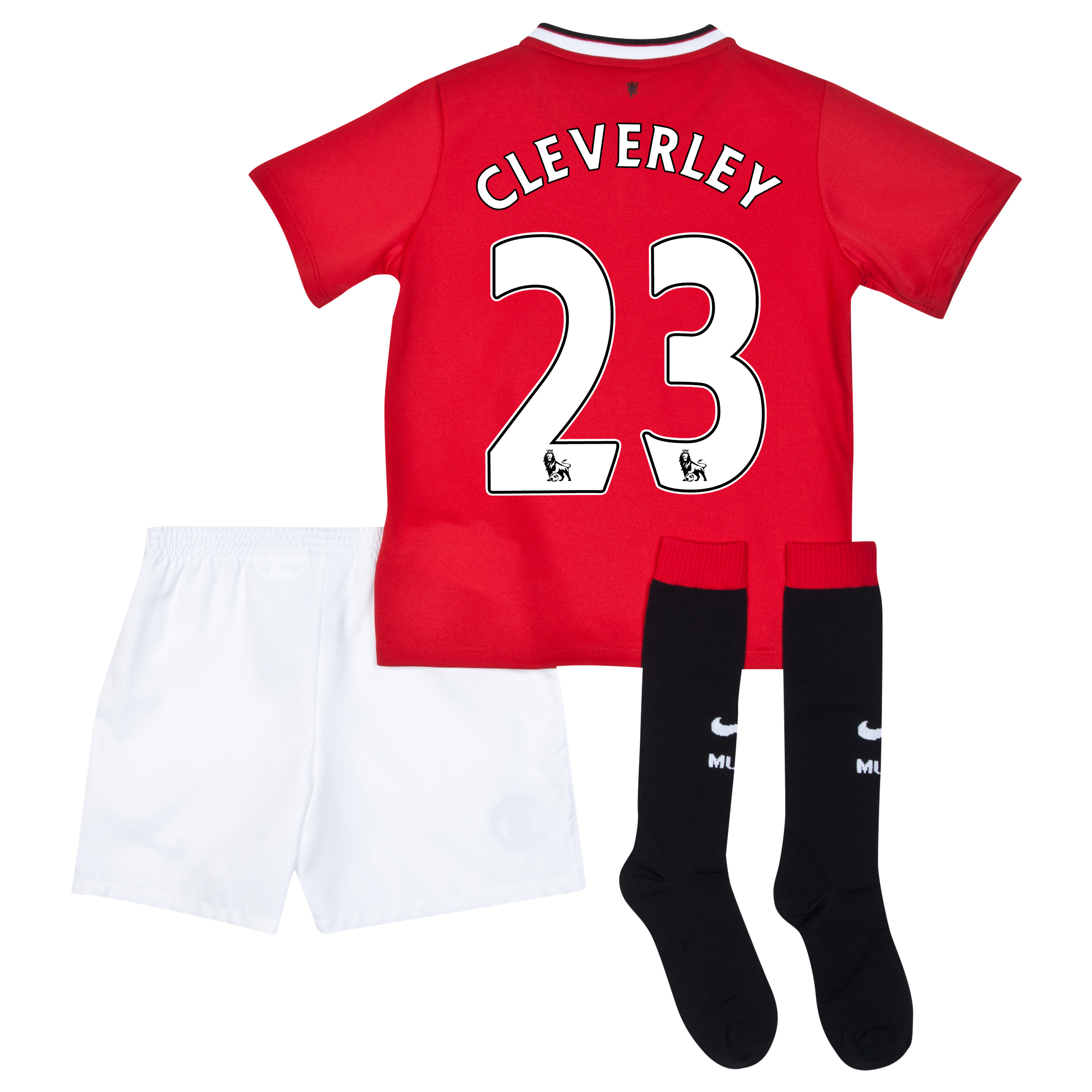 Manchester United Home Kit 2014/15 - Little Boys with Cleverley 23 printing
