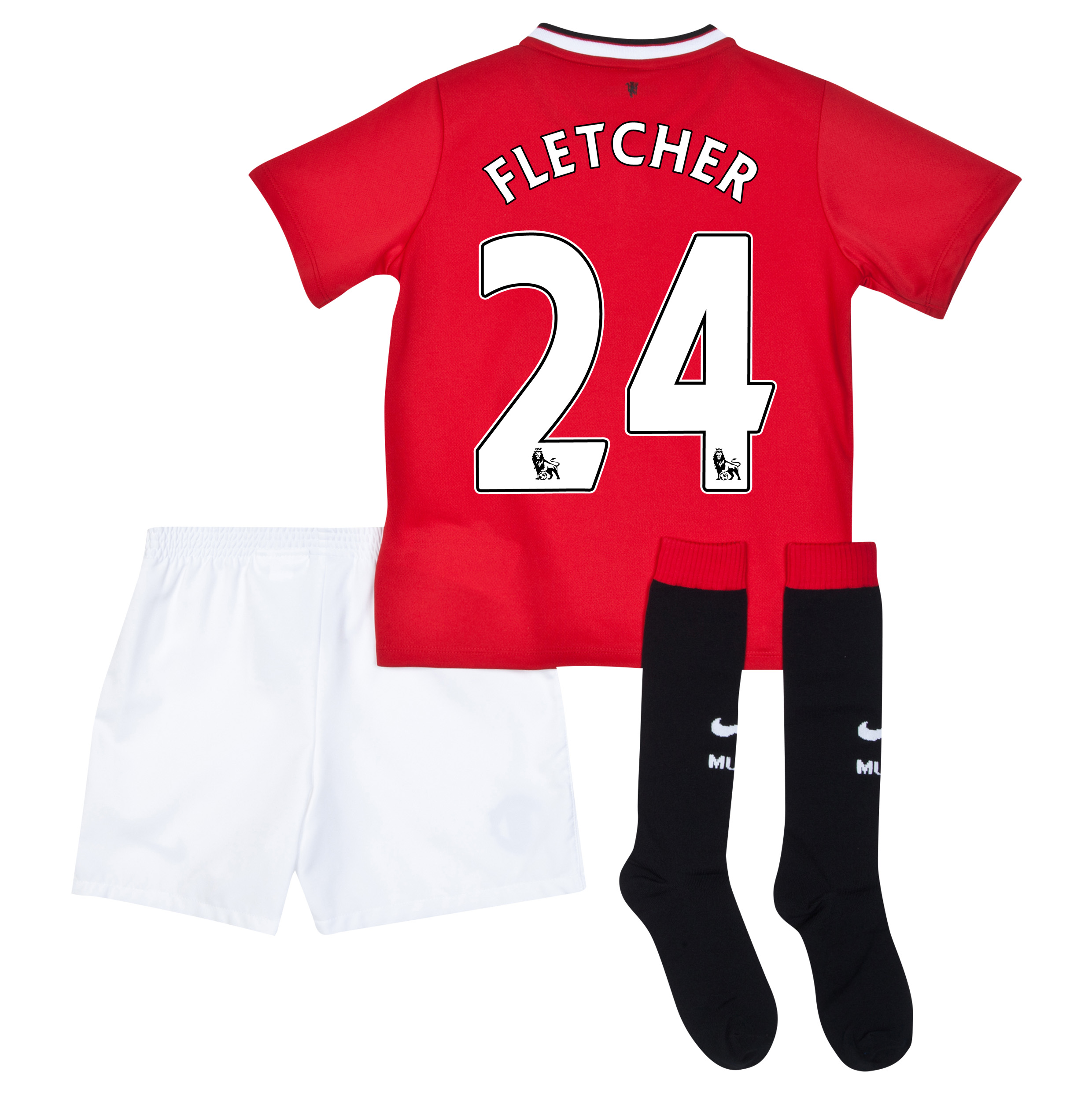 Manchester United Home Kit 2014/15 - Little Boys with Fletcher 24 printing