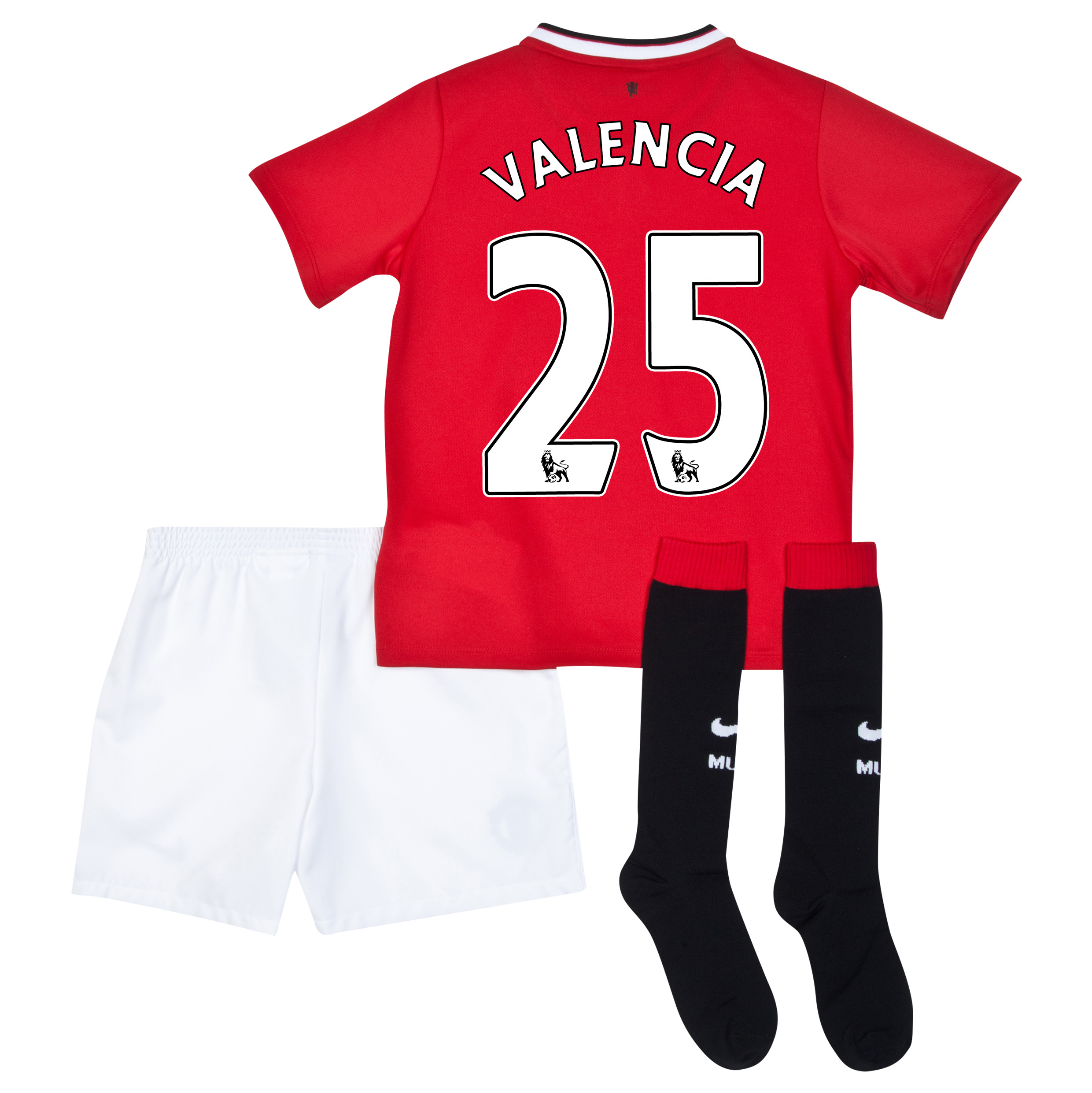 Manchester United Home Kit 2014/15 - Little Boys with Valencia 25 printing