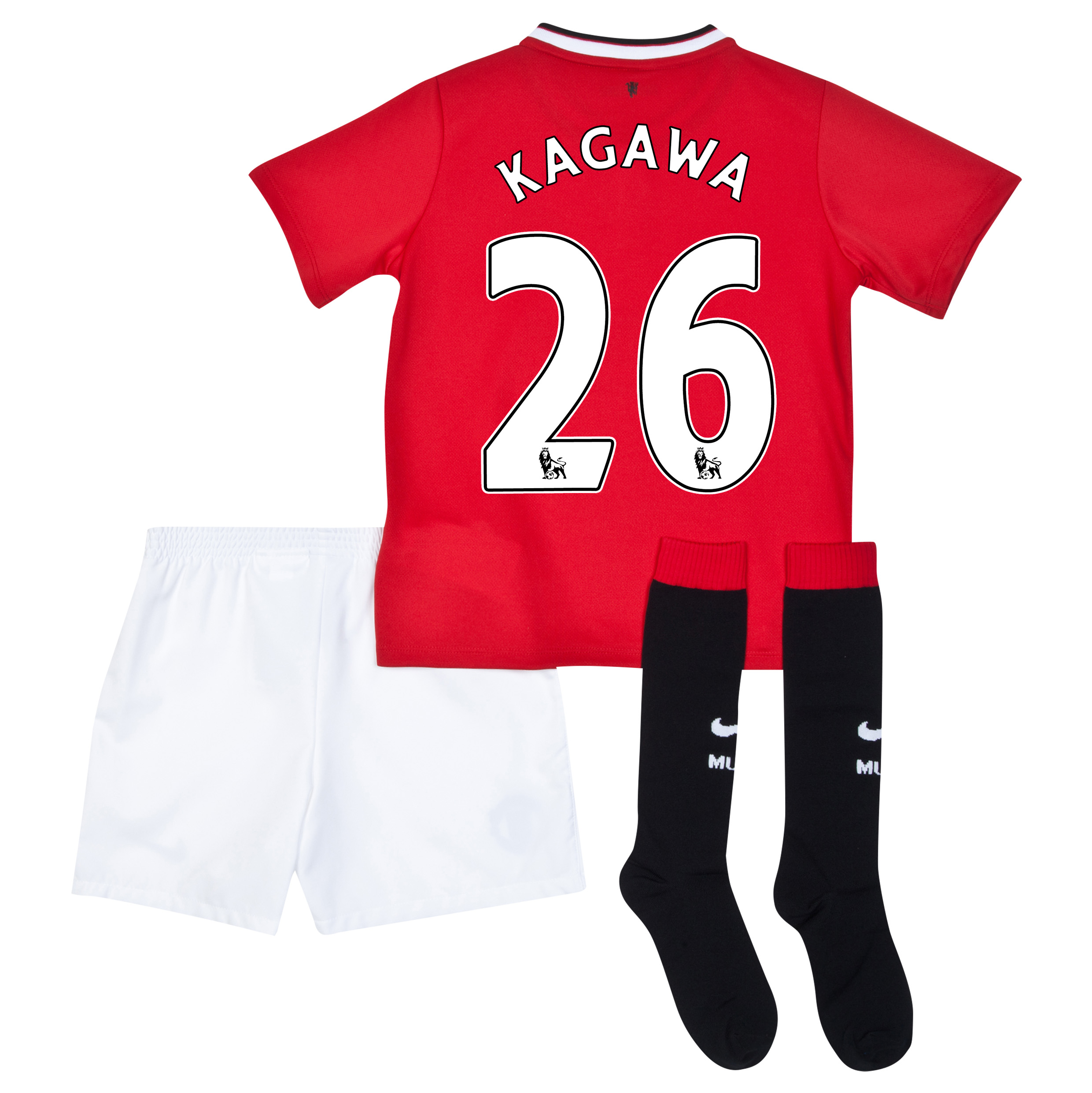 Manchester United Home Kit 2014/15 - Little Boys with Kagawa 26 printing