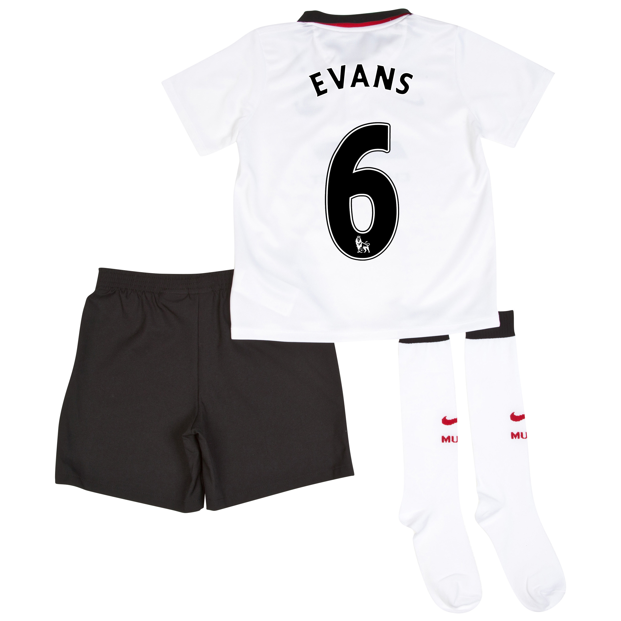 Manchester United Away Kit 2014/15 - Little Boys with Evans 6 printing