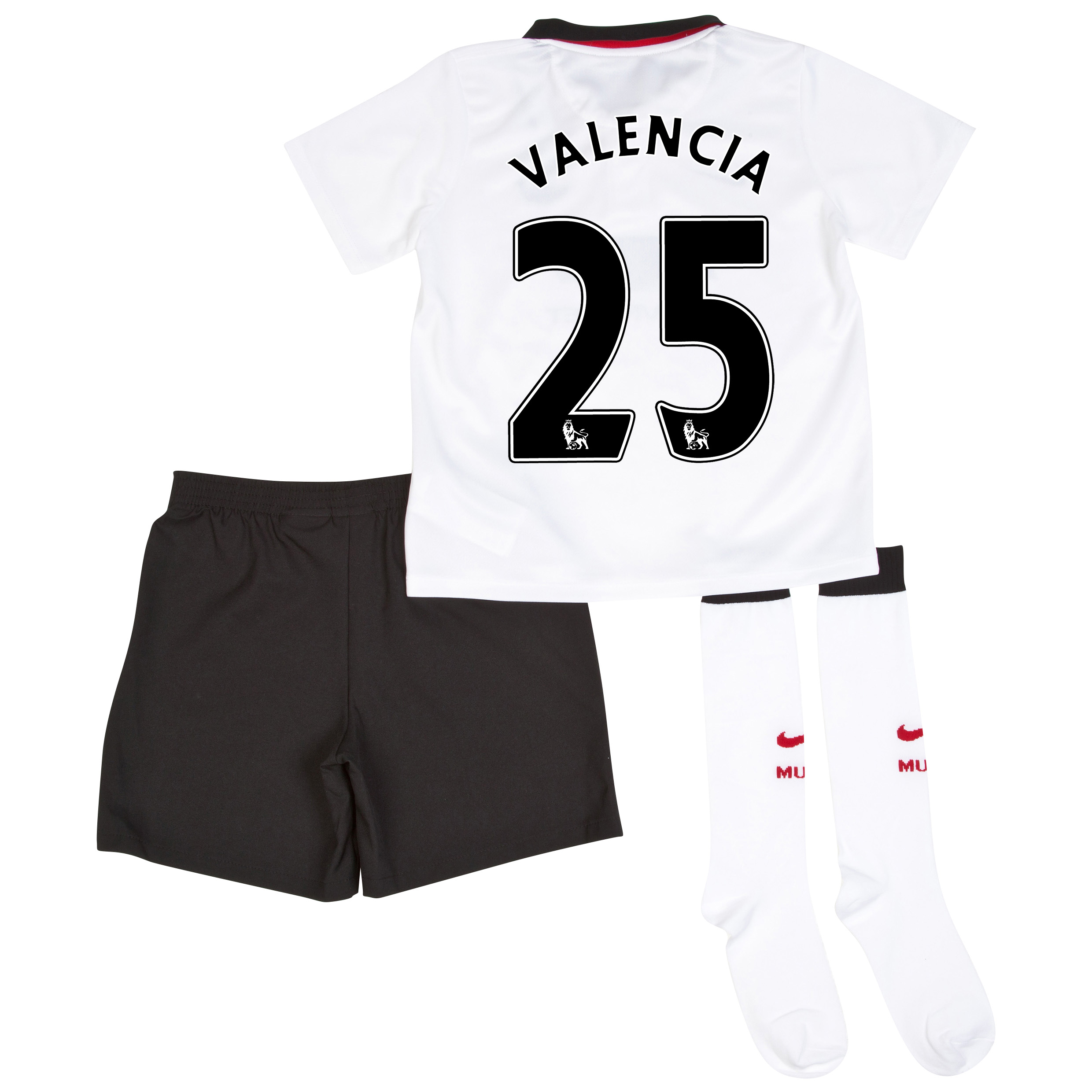 Manchester United Away Kit 2014/15 - Little Boys with Valencia 25 printing