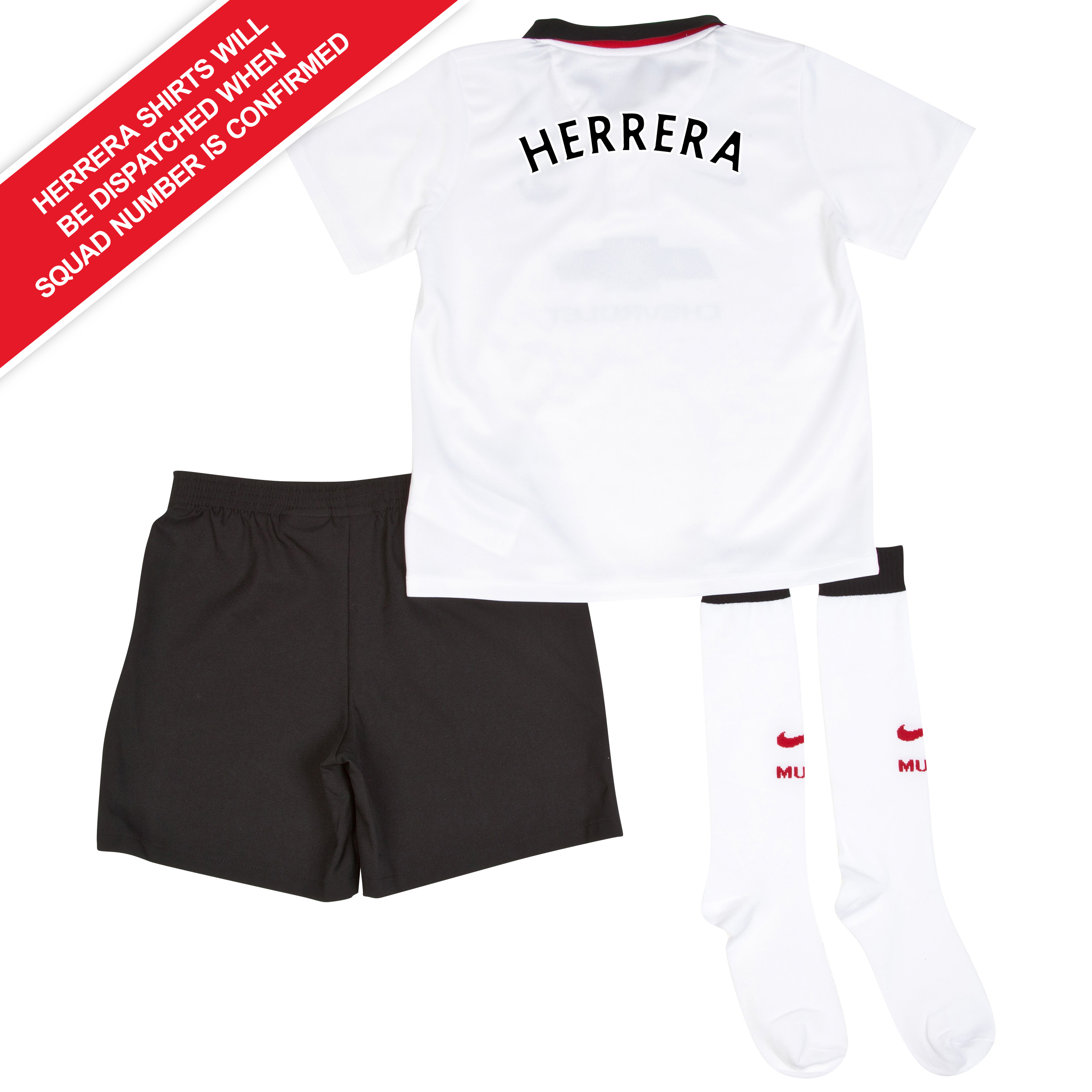 Manchester United Away Kit 2014/15 - Little Boys with Herrera TBC printing