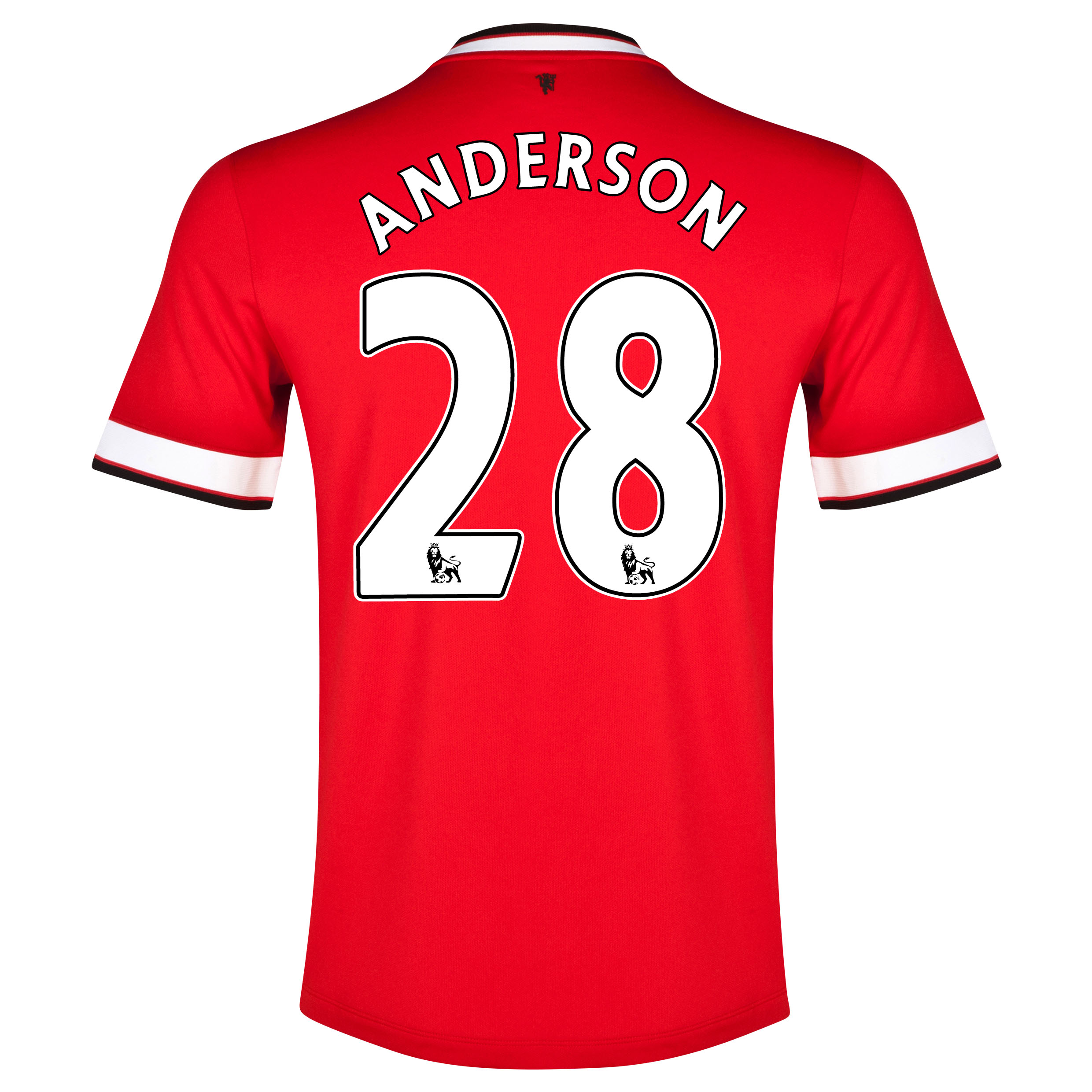 Manchester United Home Shirt 2014/15 with Anderson 28 printing