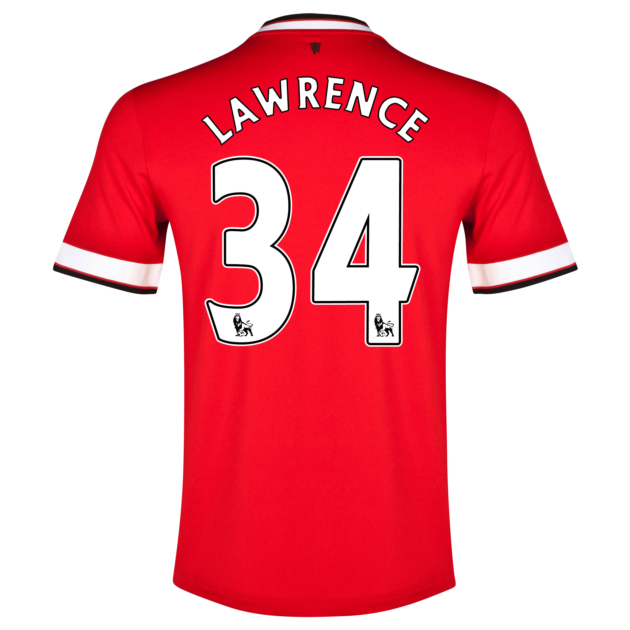 Manchester United Home Shirt 2014/15 with Lawrence 34 printing