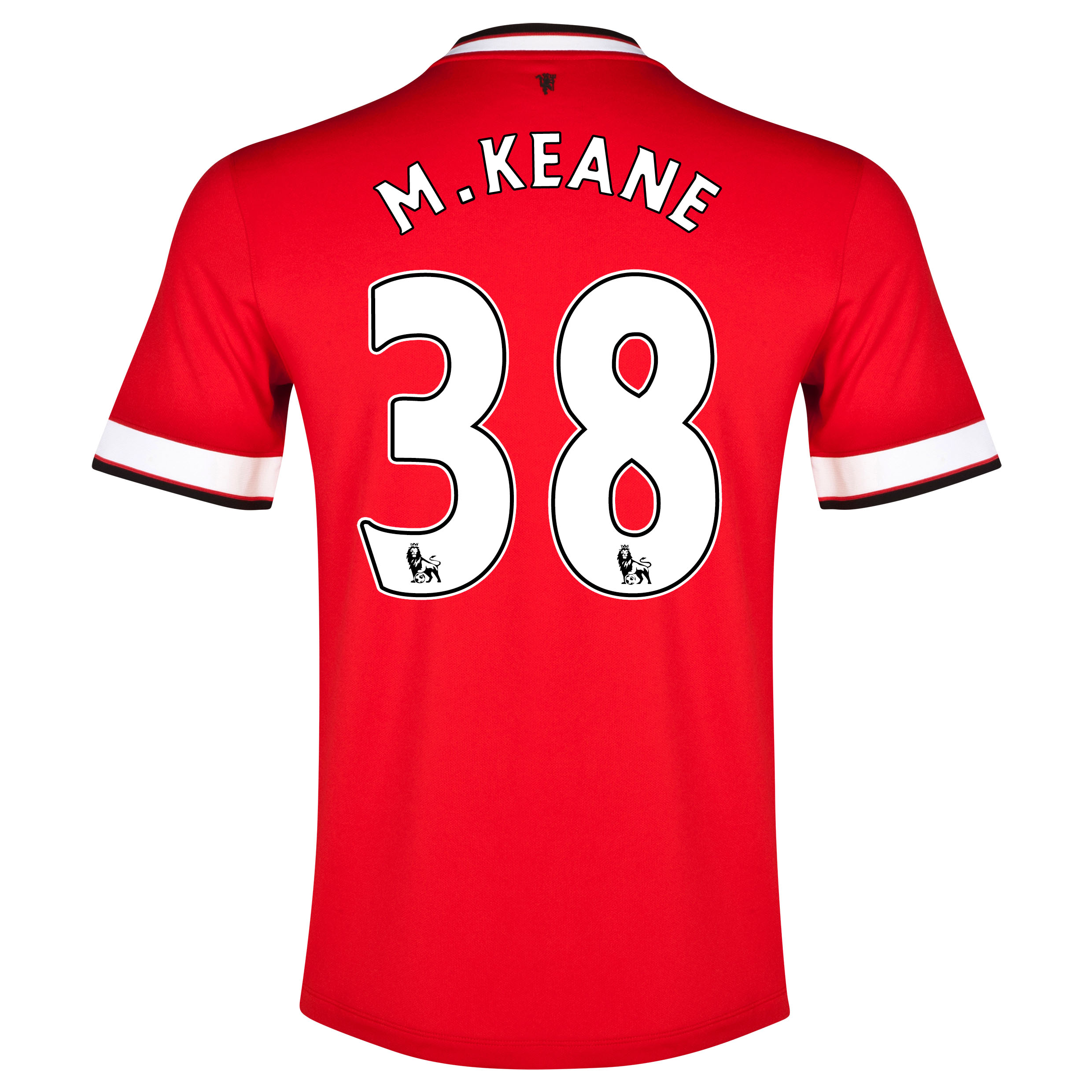 Manchester United Home Shirt 2014/15 with M.Keane 38 printing