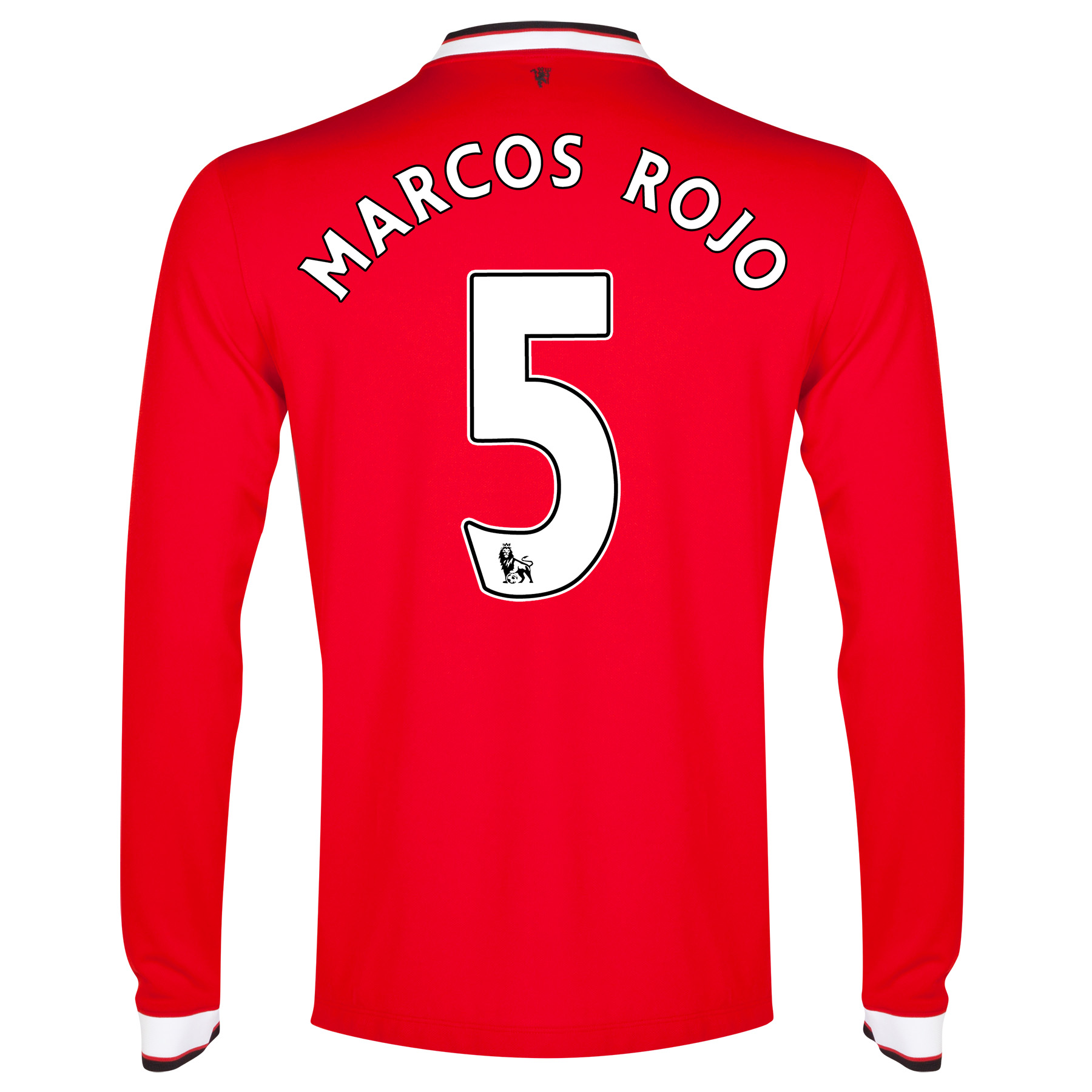 Manchester United Home Shirt 2014/15 - Long Sleeve with Marcos Rojo 5 printing
