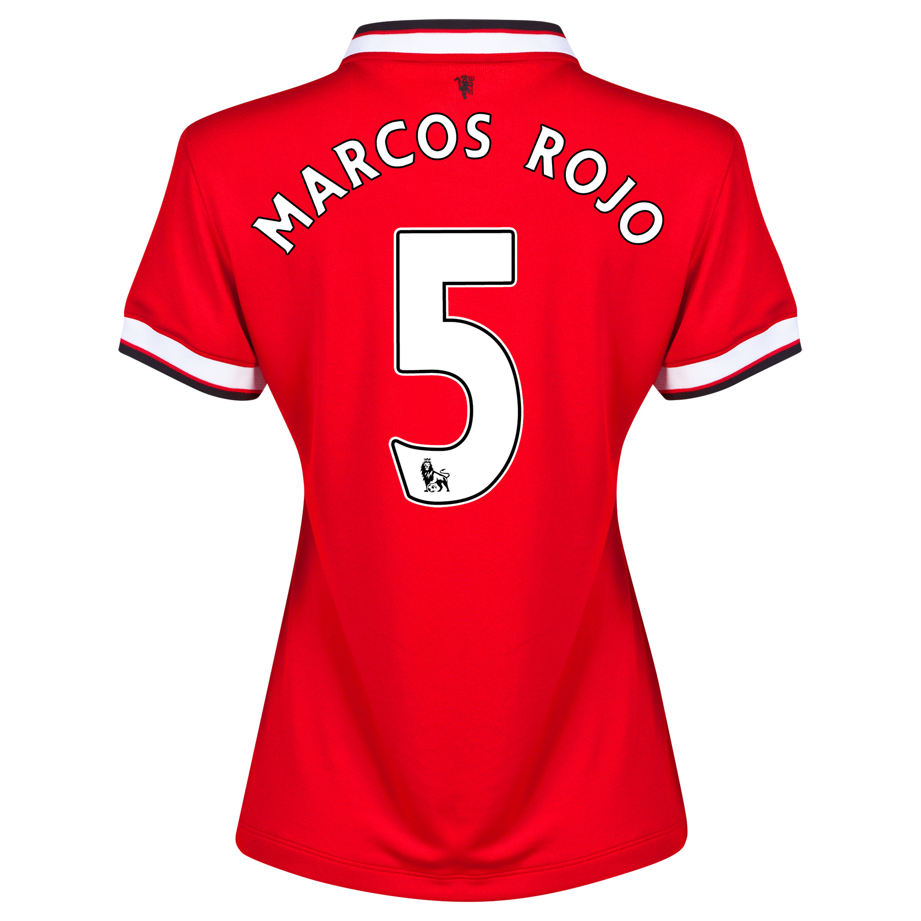 Manchester United Home Shirt 2014/15 - Womens with Marcos Rojo 5 printing