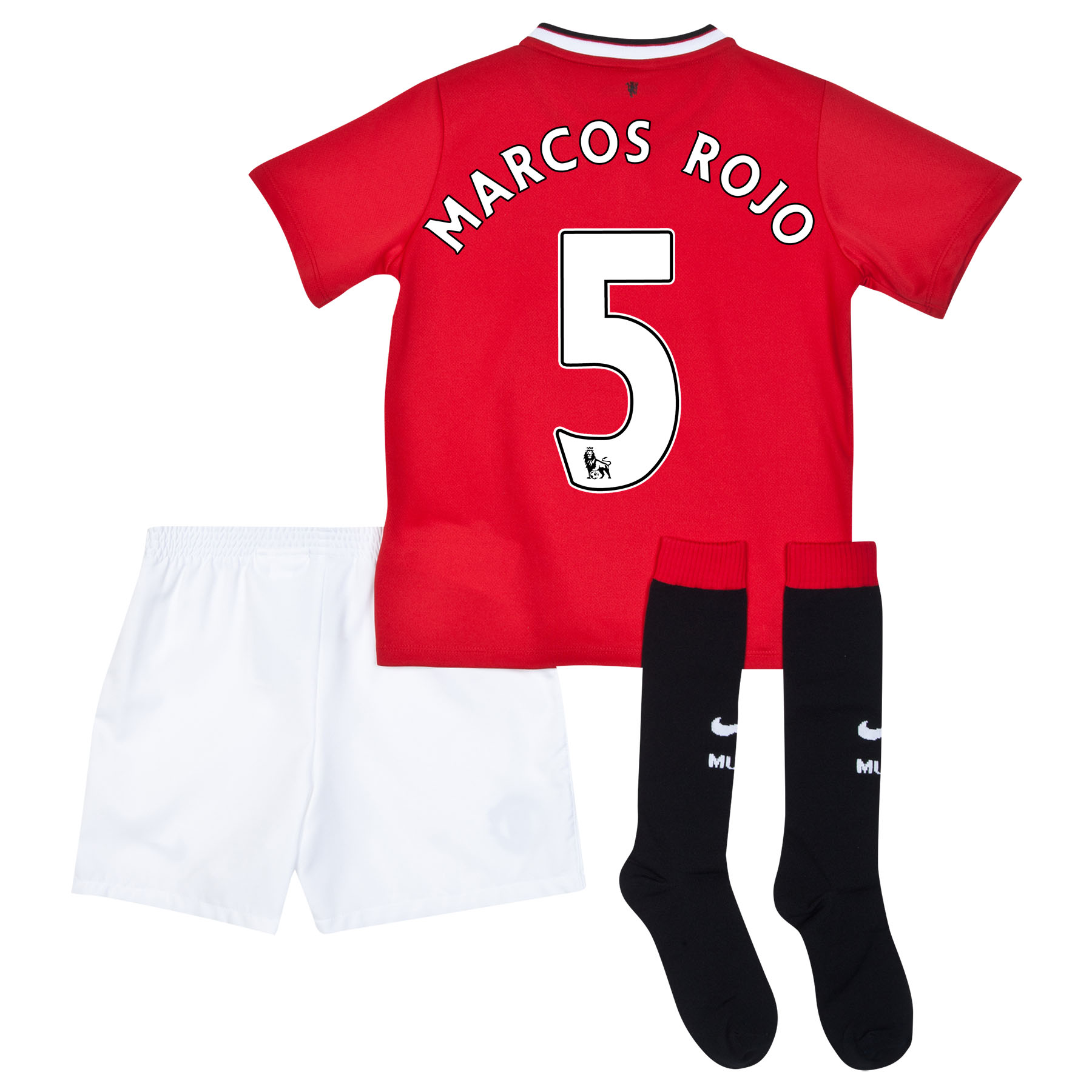 Manchester United Home Kit 2014/15 - Little Boys with Marcos Rojo 5 printing