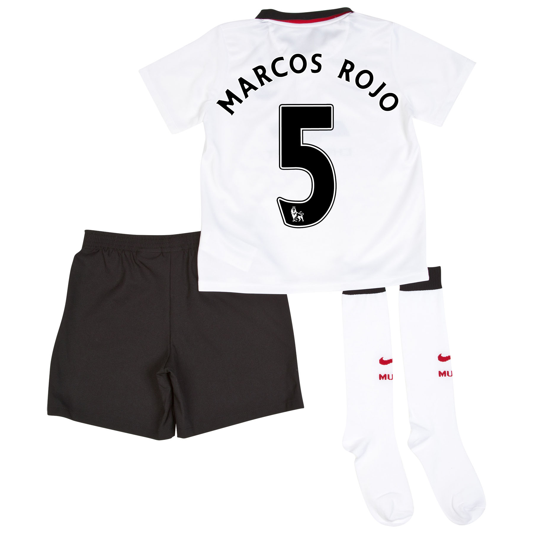 Manchester United Away Kit 2014/15 - Little Boys with Marcos Rojo 5 printing