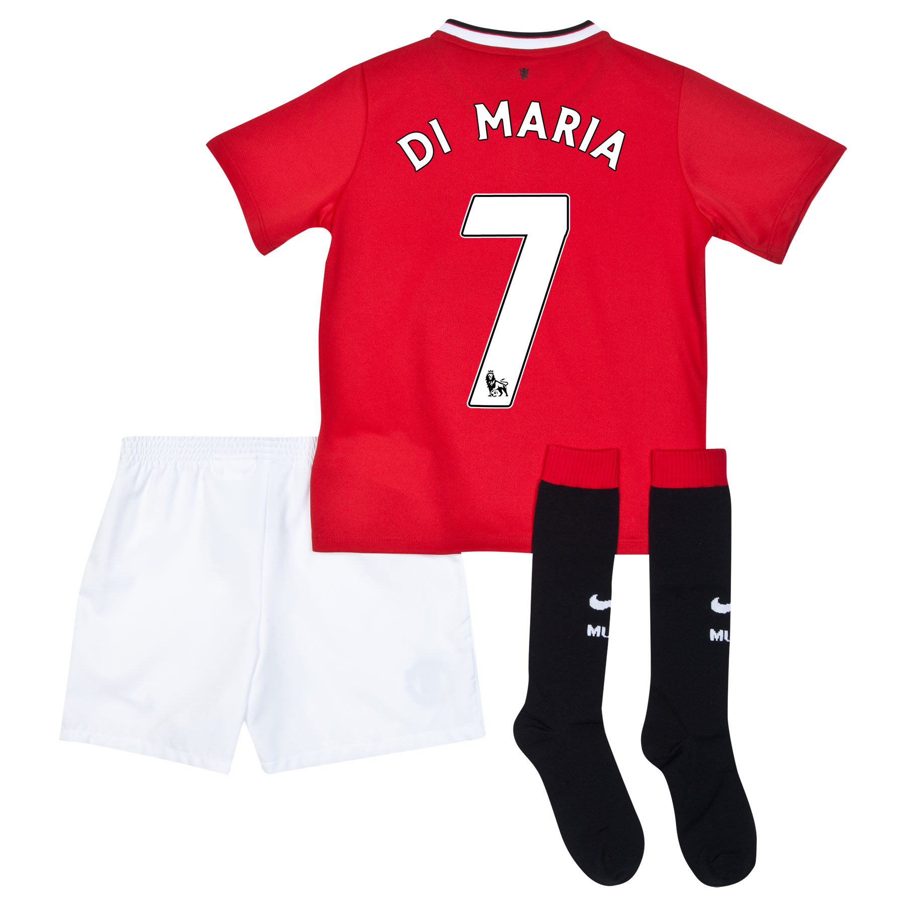 Manchester United Home Kit 2014/15 - Little Boys with Di Maria 7 printing