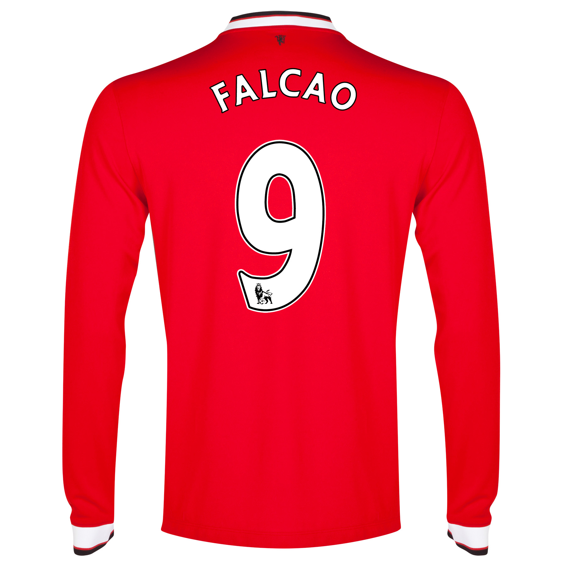 Manchester United Home Shirt 2014/15 - Long Sleeve - Kids with Falcao 9 printing