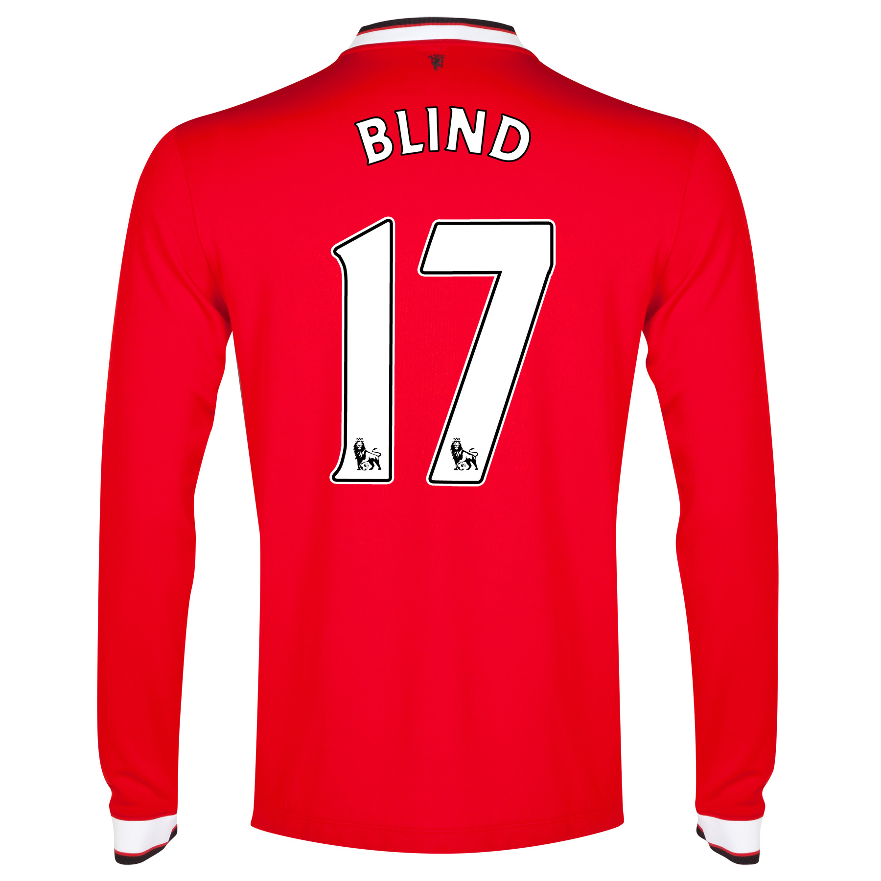 Manchester United Home Shirt 2014/15 - Long Sleeve - Kids with Blind 17 printing