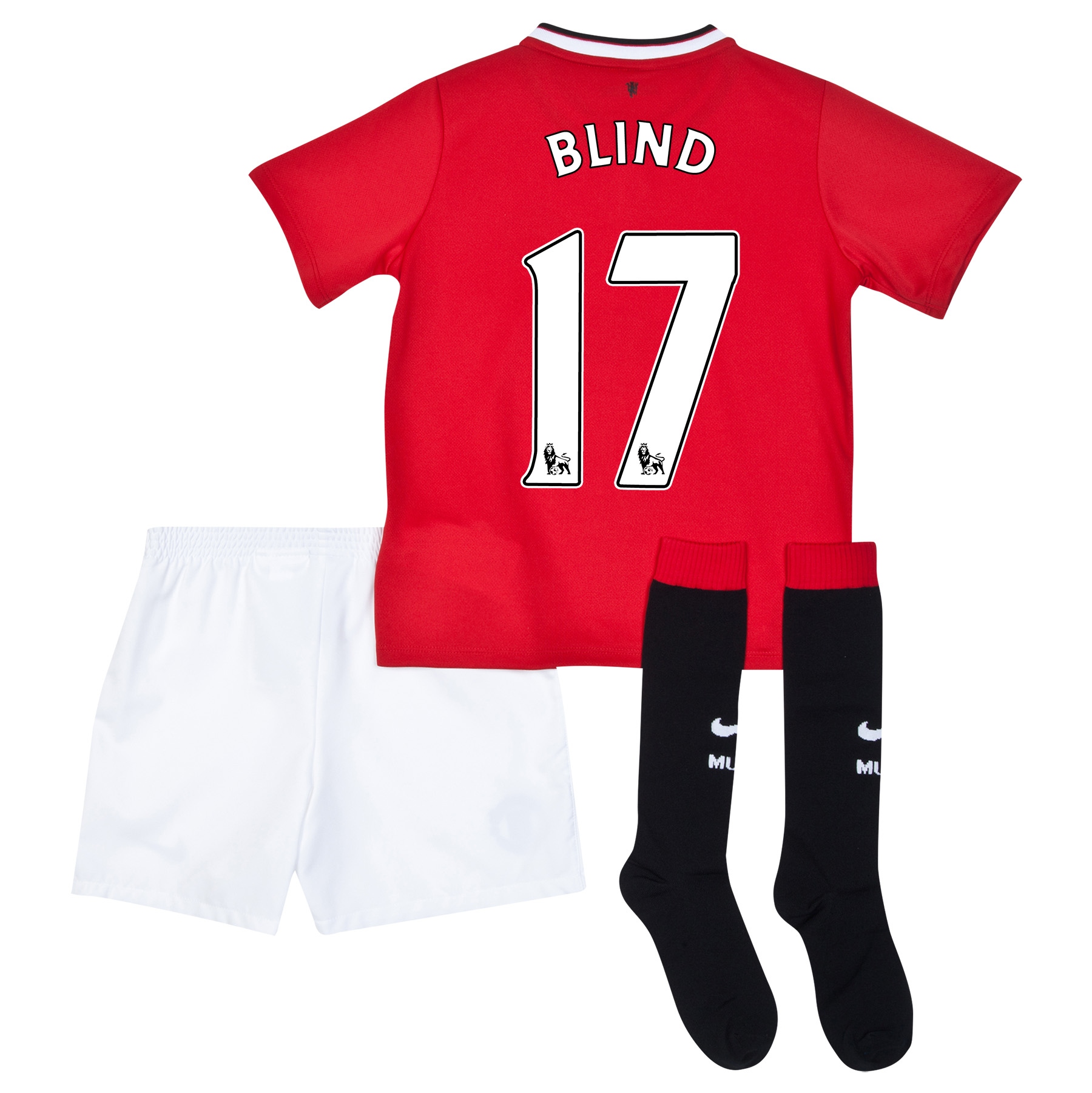 Manchester United Home Kit 2014/15 - Little Boys with Blind 17 printing