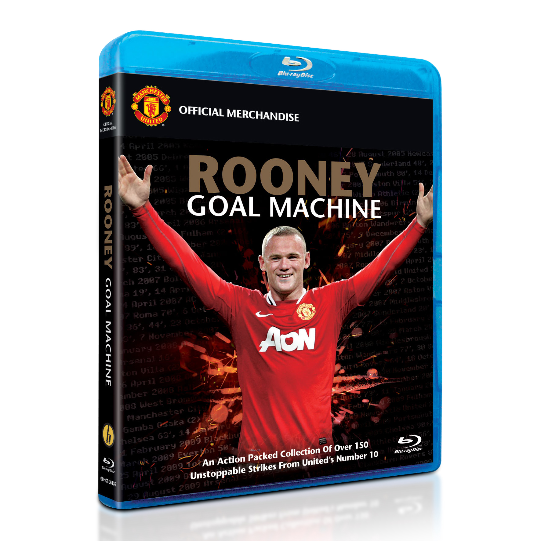 Manchester United Rooney Goal Machine - Blue Ray DVD
