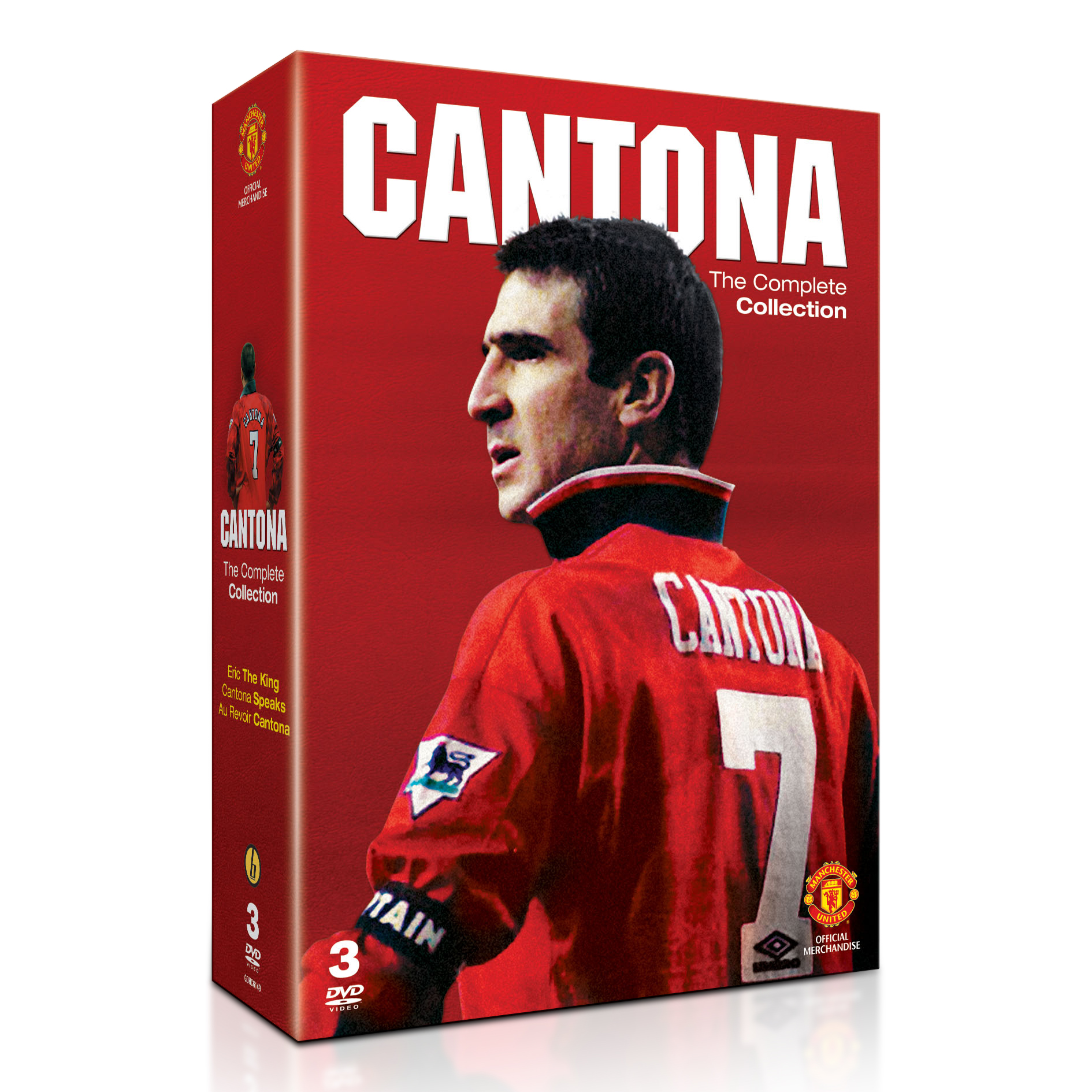 Manchester United Eric Cantona - The Complete Collection - DVD - 3 Discs - PAL