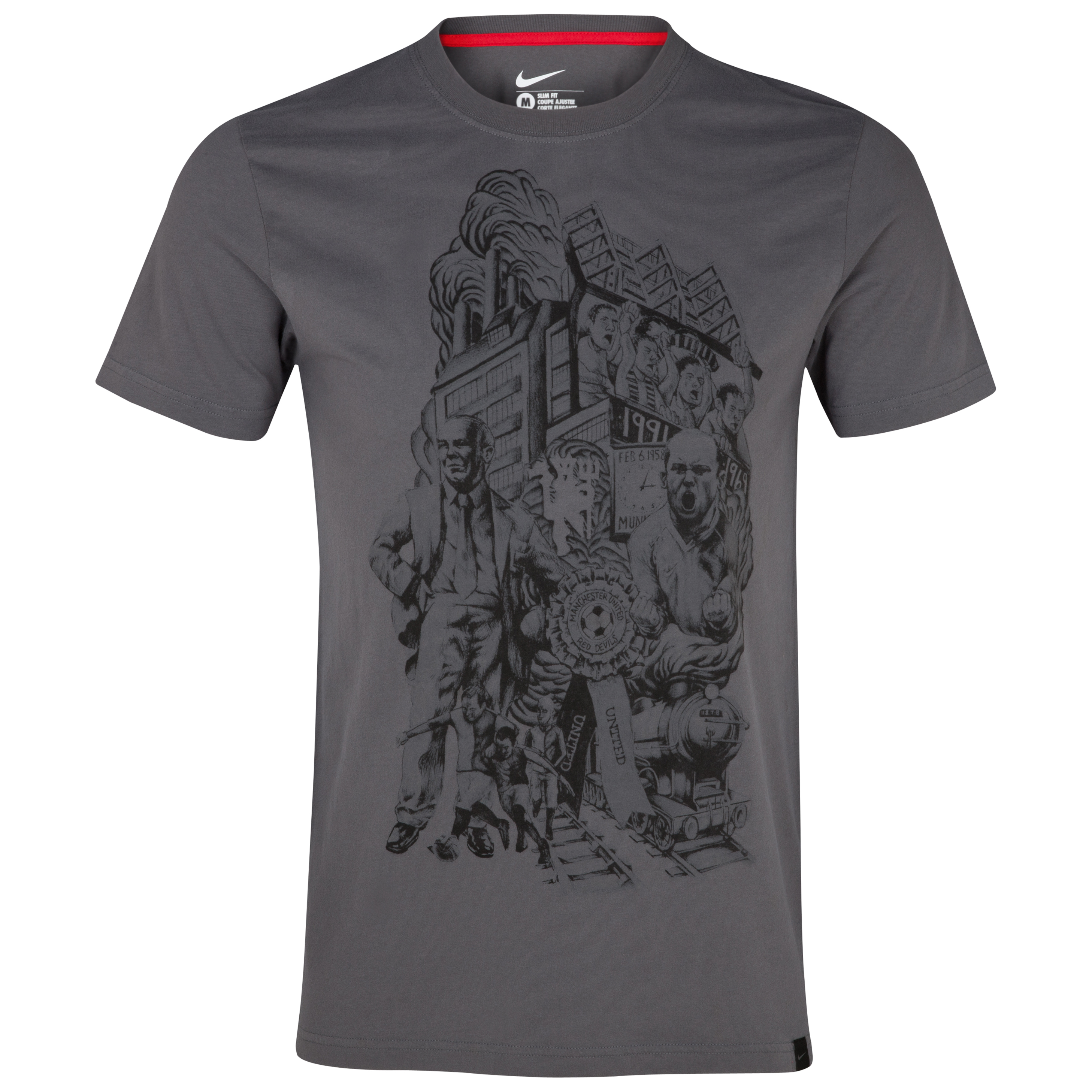 Manchester United Authentic Tee - Dark Grey/Diablo Red