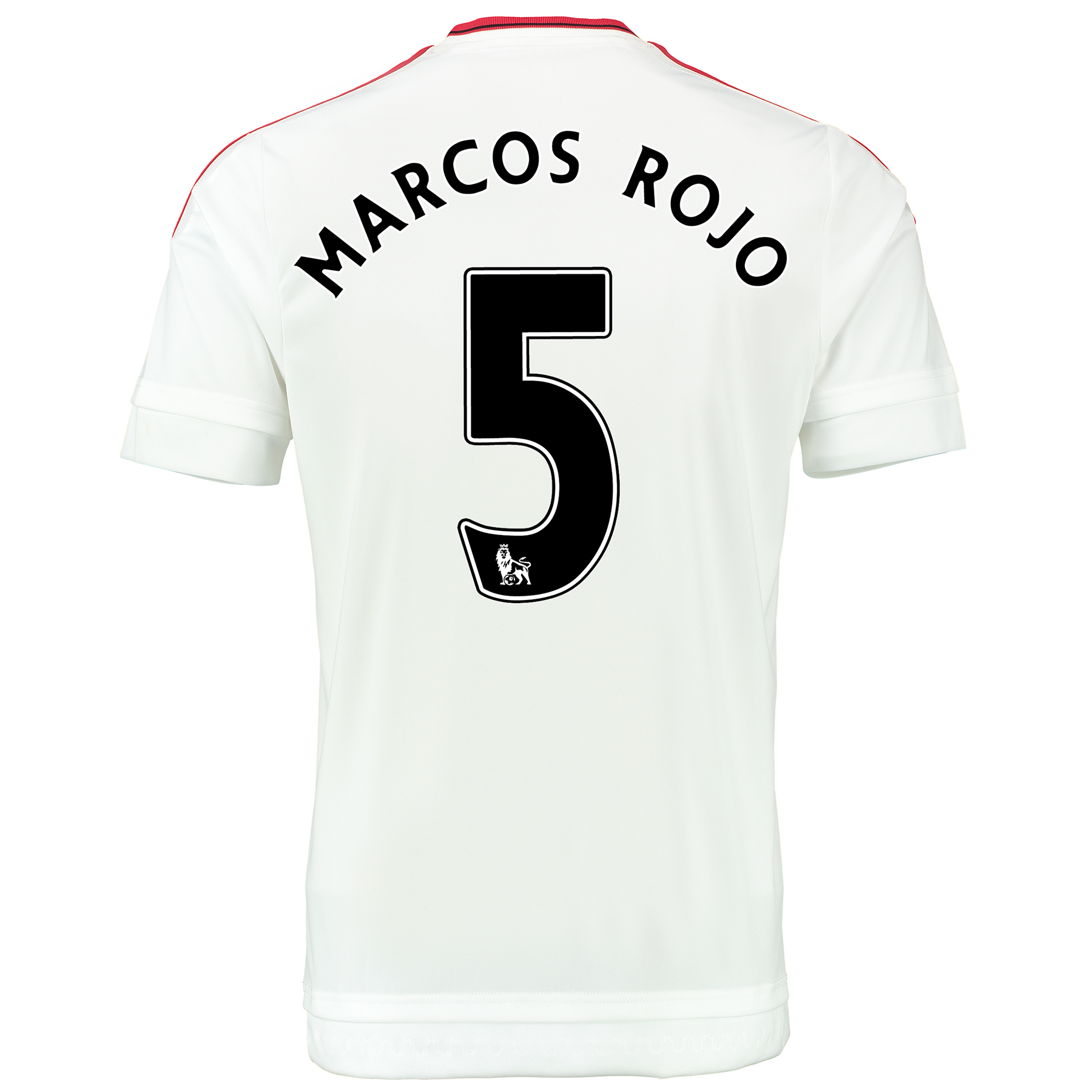 Manchester United Away Baby Kit 2015/16 White with Marcos Rojo 5 print